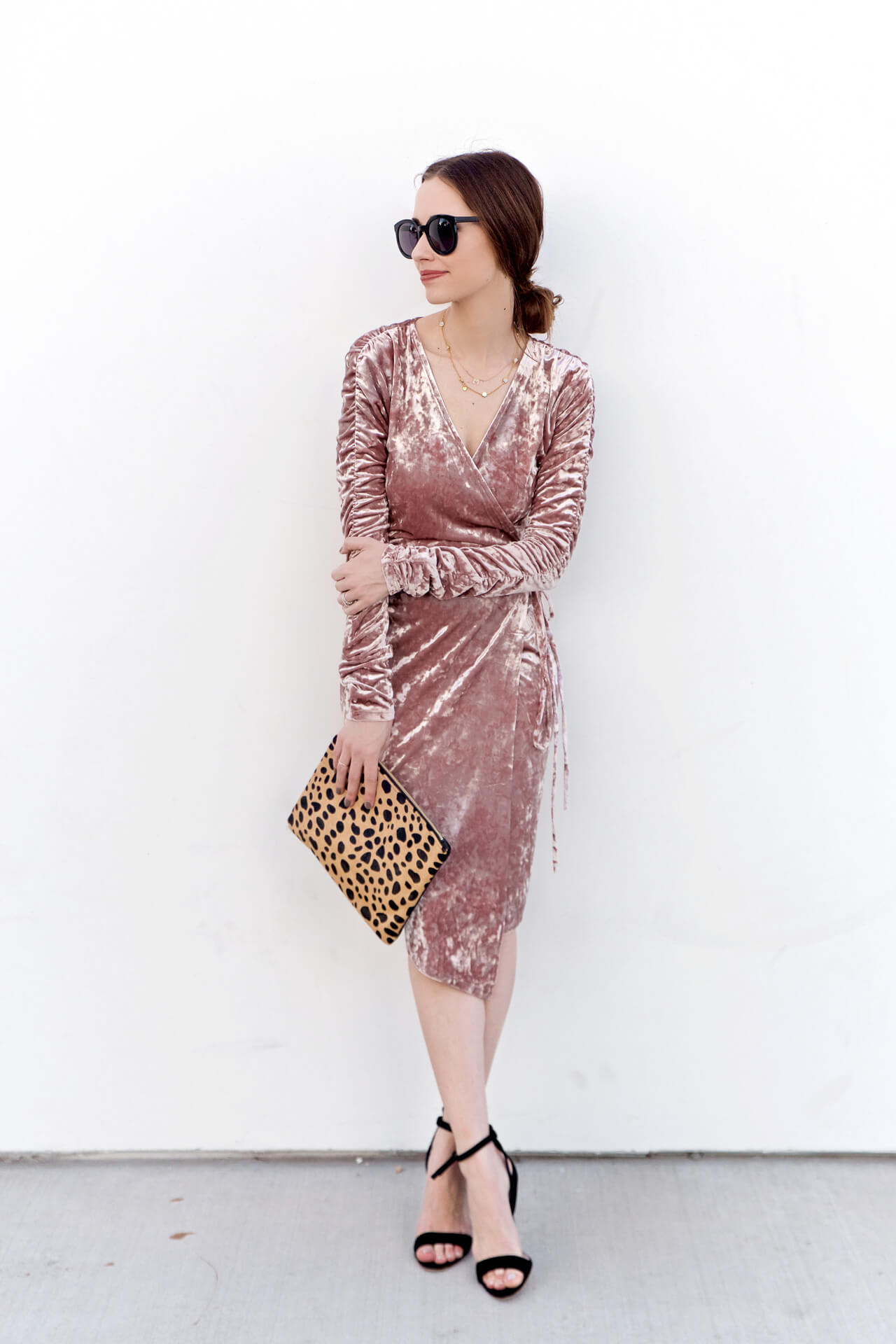 a beautiful pink velvet dress for Fall - M Loves M @marmar