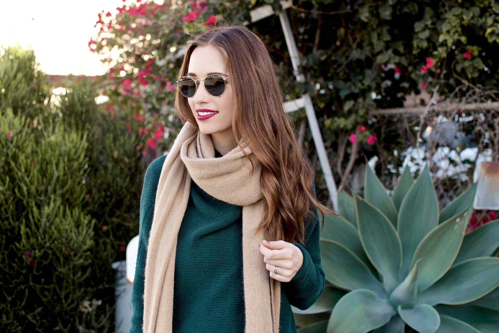 the perfect fall outfit and sharing a boutique of scarves on MLovesM.com today!