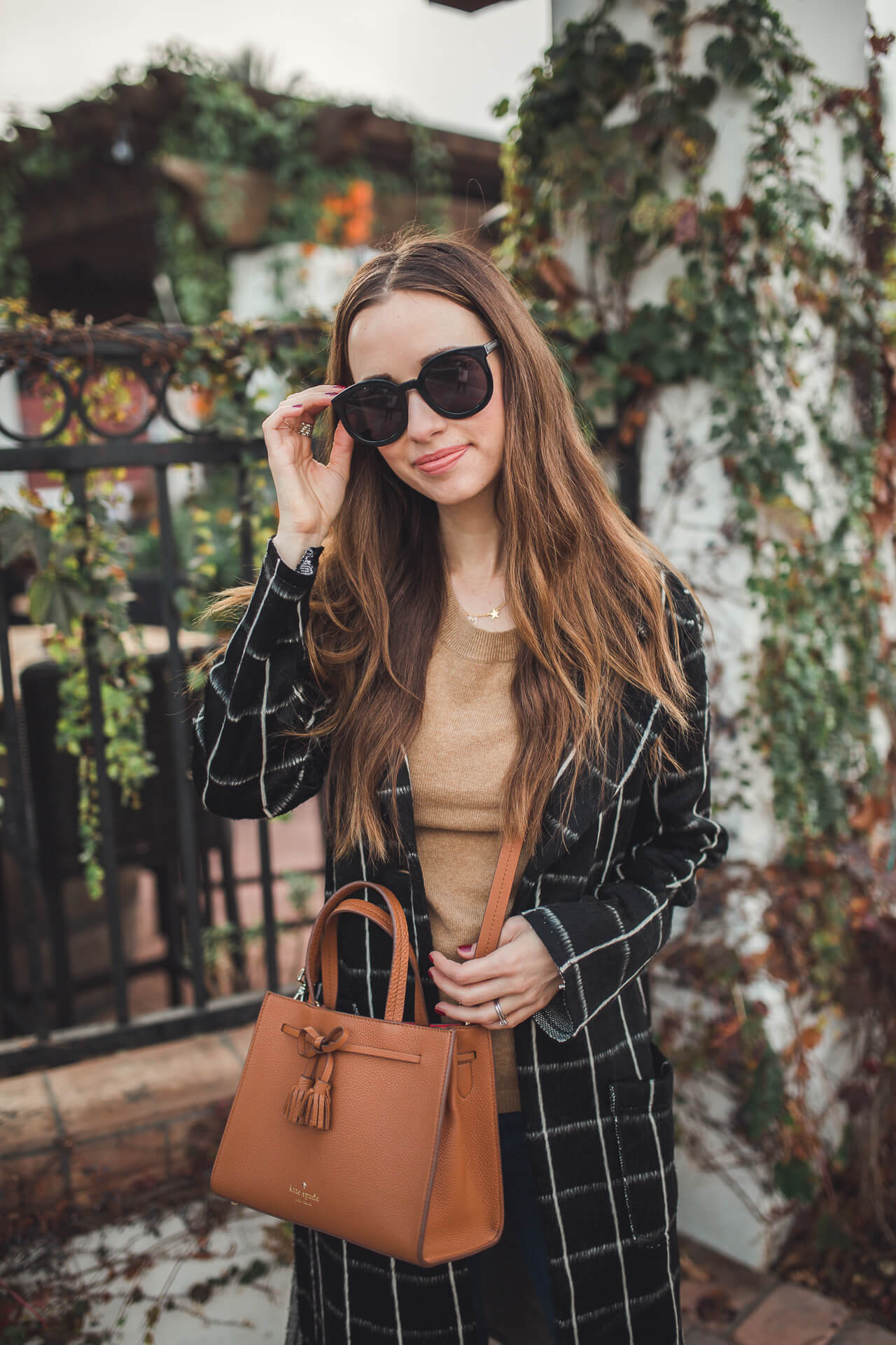 a cute sweater and coat option for fall