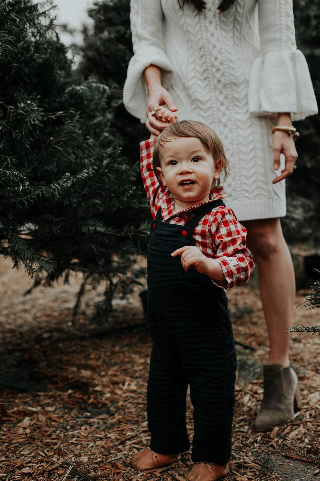 baby at christmas tree lot - M Loves M @marmar