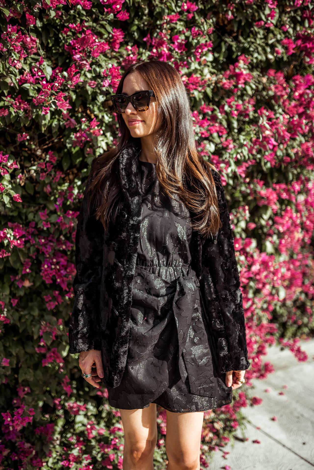 an LBD unlike the rest paired with this velvet jacket - M Loves M @marmar