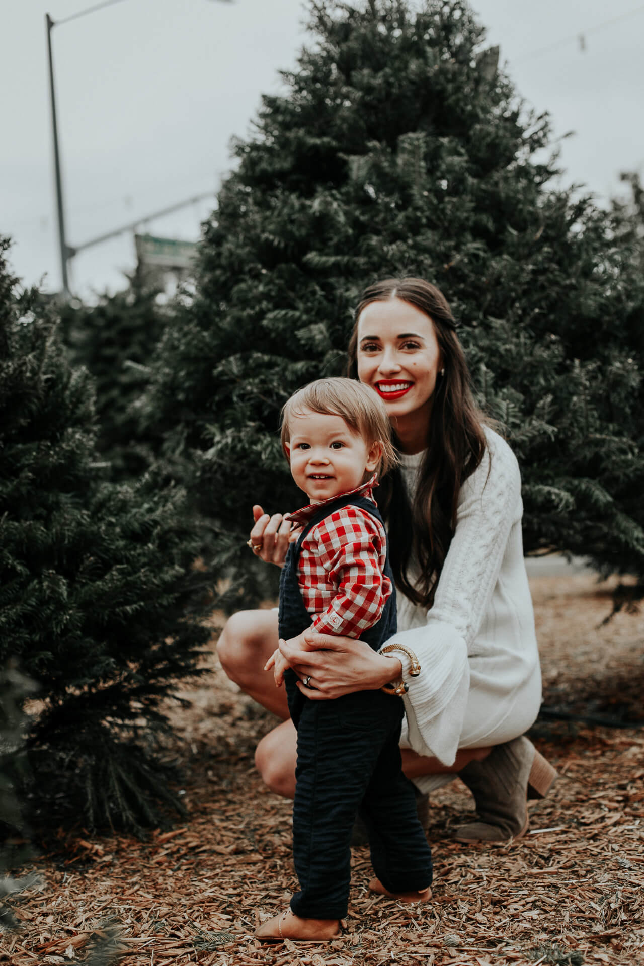 Mommy and Baby at Christmas Tree Farm - M Loves M lifestyle blogger @marmar