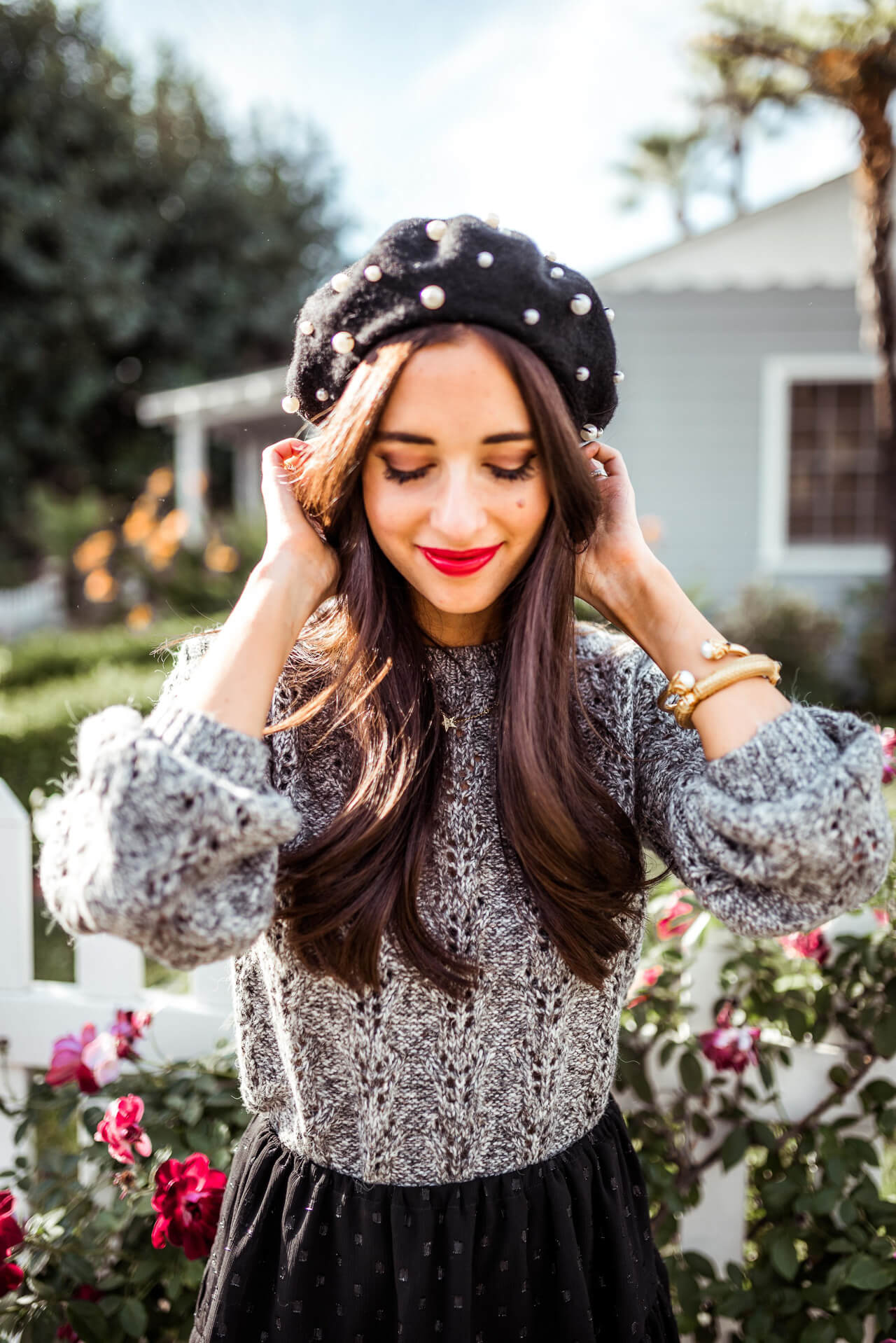 this pearl beret is so pretty and the perfect accessory - M Loves M @marmar