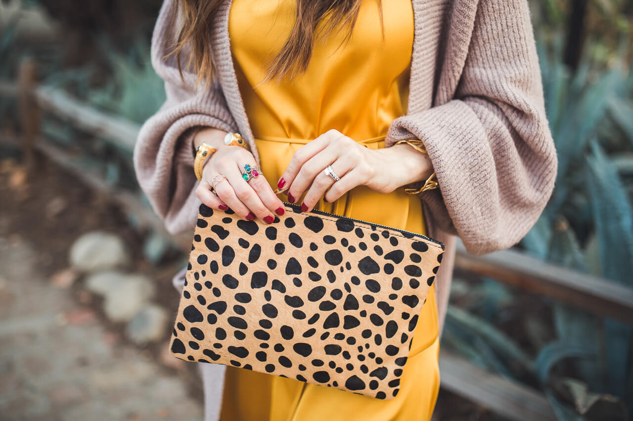 love this leopard clutch and it's under $50!