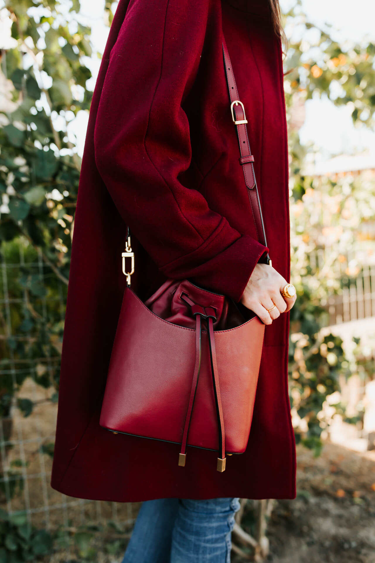 love these pops of deep red for a winter outfit - M Loves M @marmar