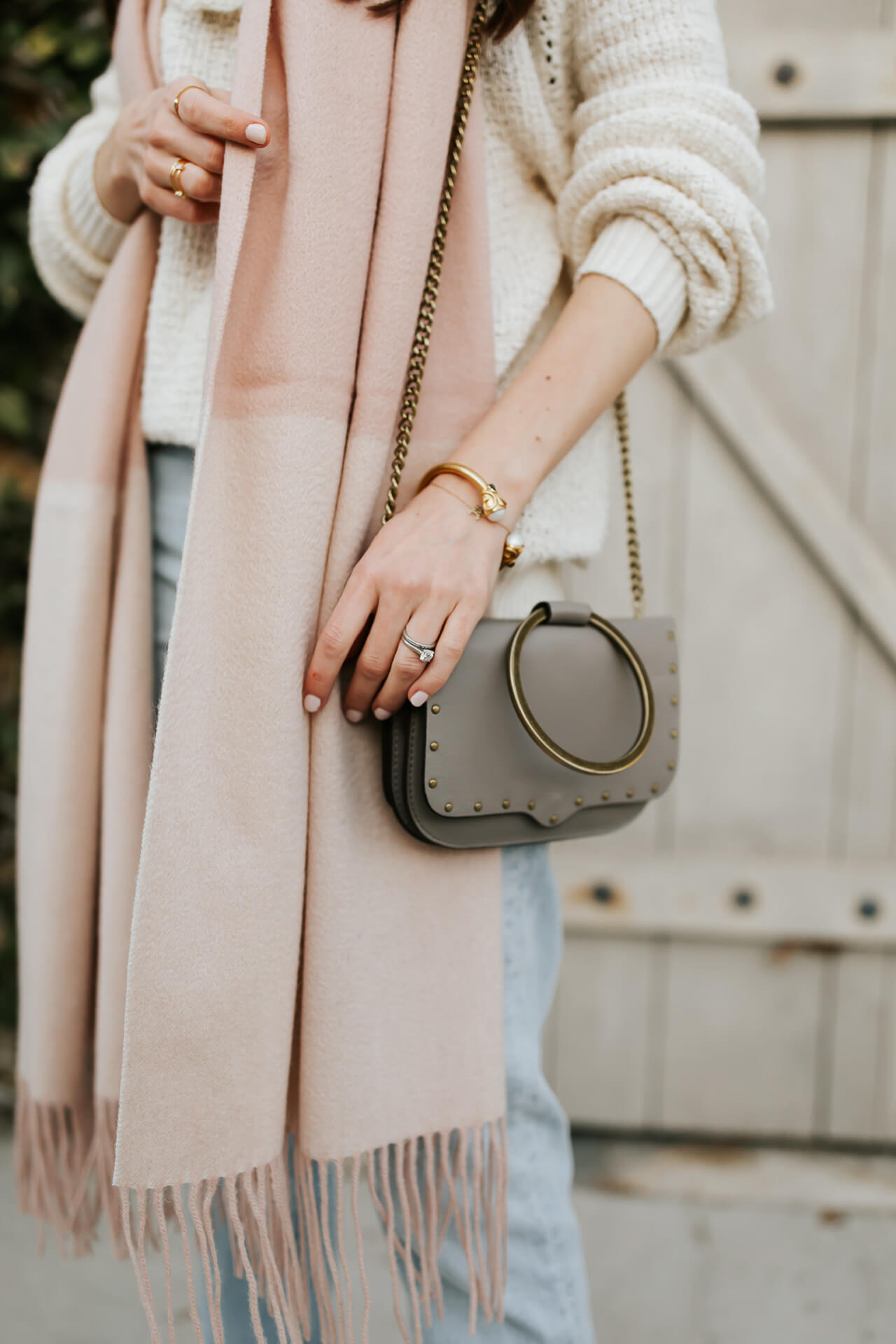 love this rebecca minkoff leather bag with the circle ring - M Loves M @marmar