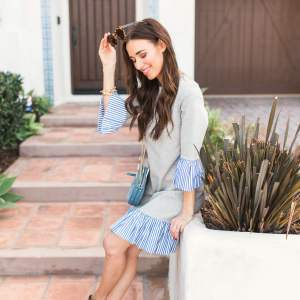 How to style a polished sweatshirt dress for spring - M Loves M @marmar