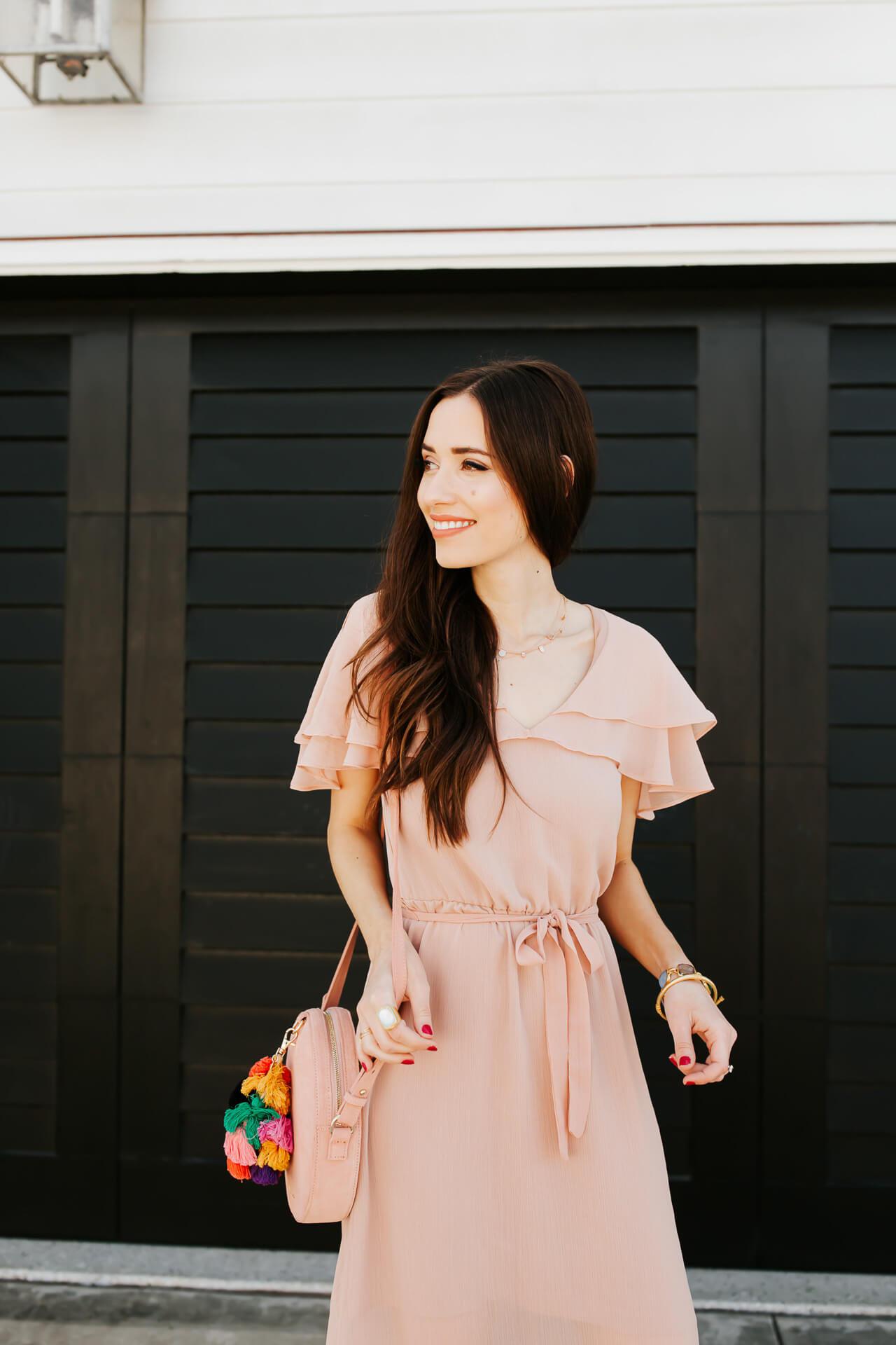 love this pretty pink maxi dress for spring