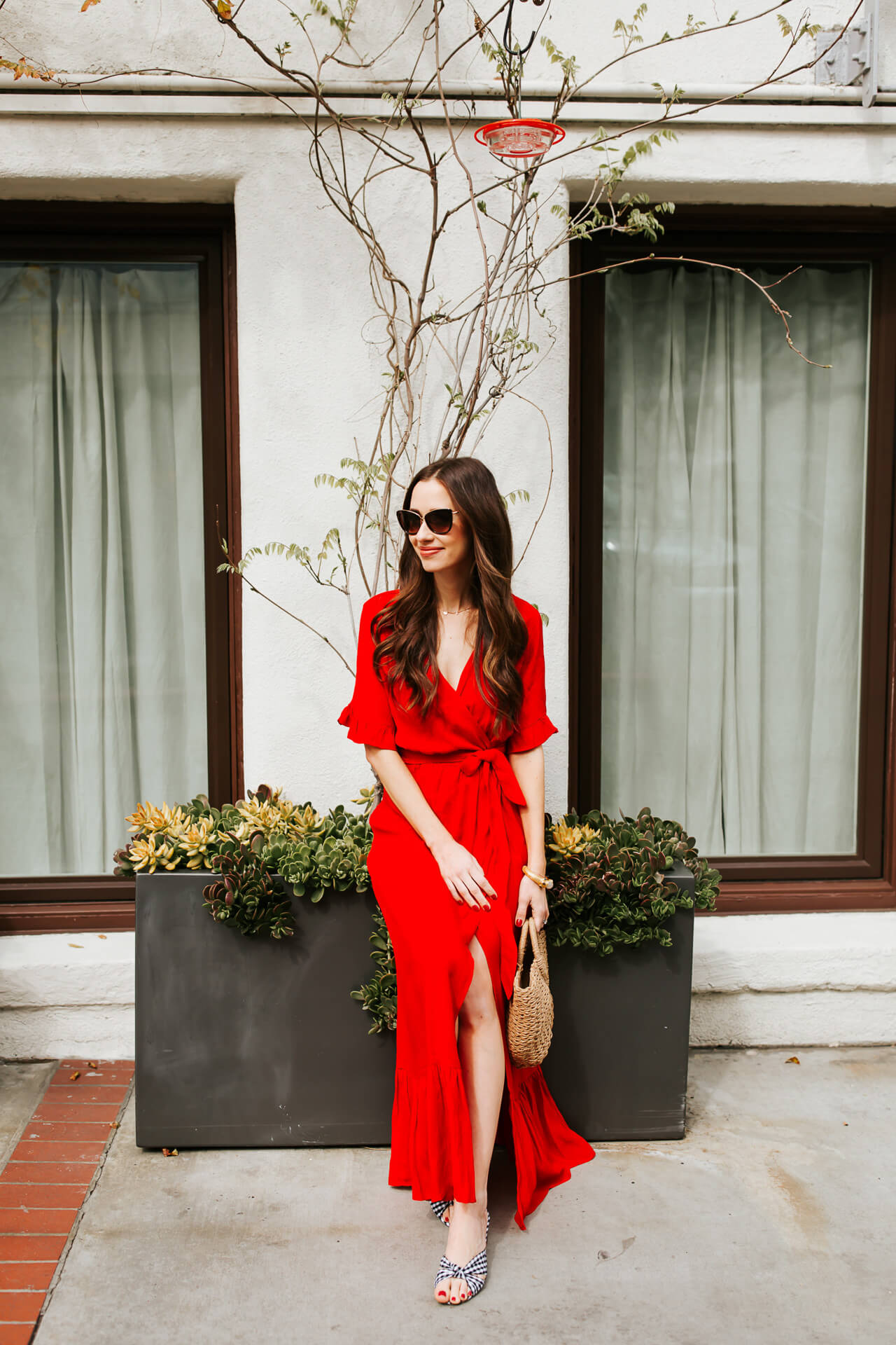 the prettiest red wrap dress for spring and summer - M Loves M @marmar
