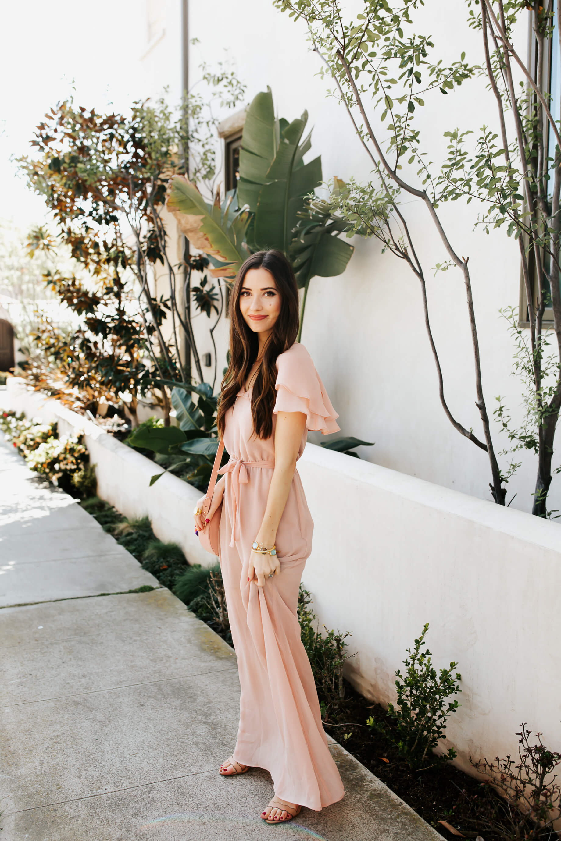 a feminine blush pink maxi dress for spring - M Loves M @marmar