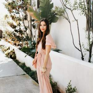 a feminine blush pink maxi dress for spring - M Loves M @marmar