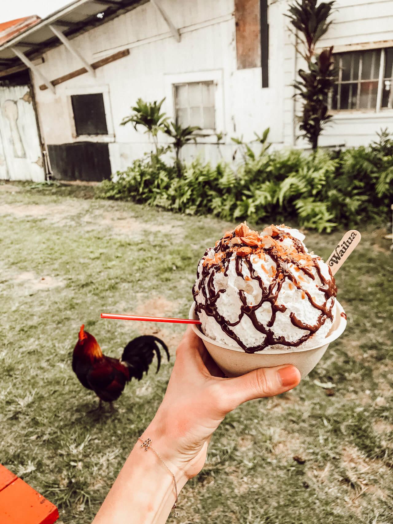 Wailea Shave Ice on Kauai - Almond Joy