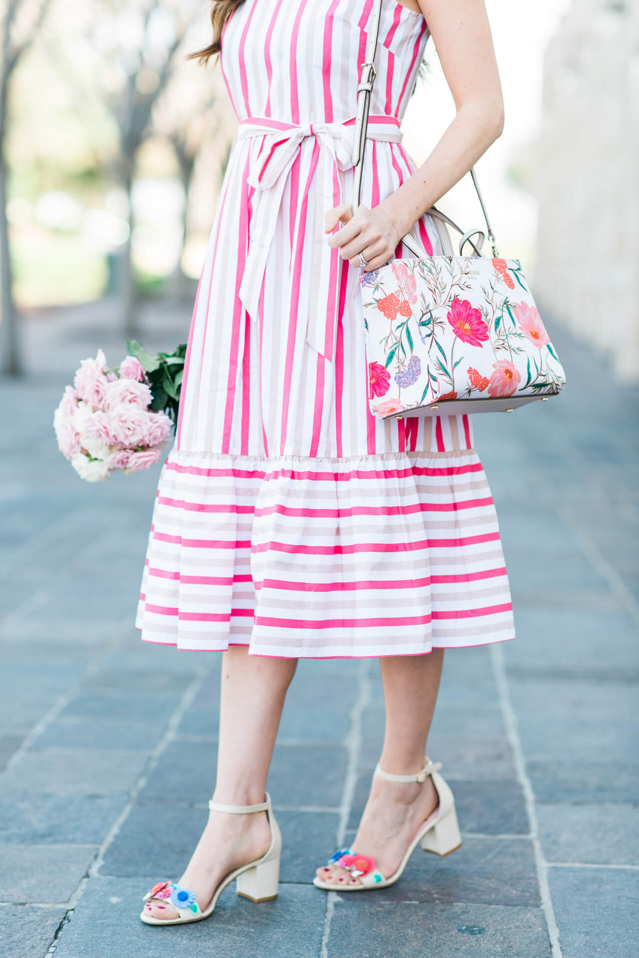 print mixing with florals and stripes - M Loves M @marmar