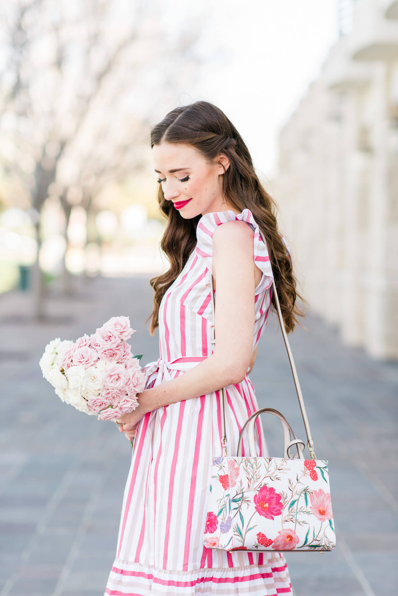 pairing stripes with florals for spring - M Loves M @marmar