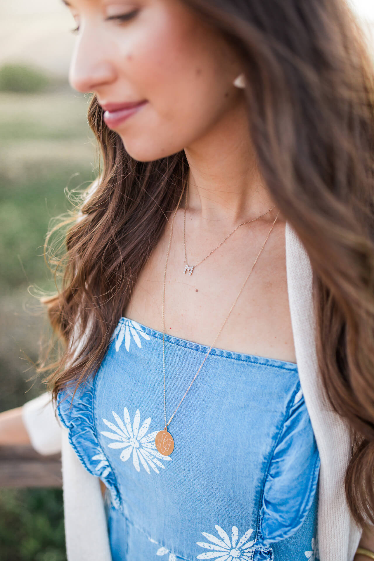 pretty necklace details - would be a great gift idea for Mother's Day