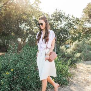 How to pair a button-down shirt with a skirt!   M Loves M @marmar