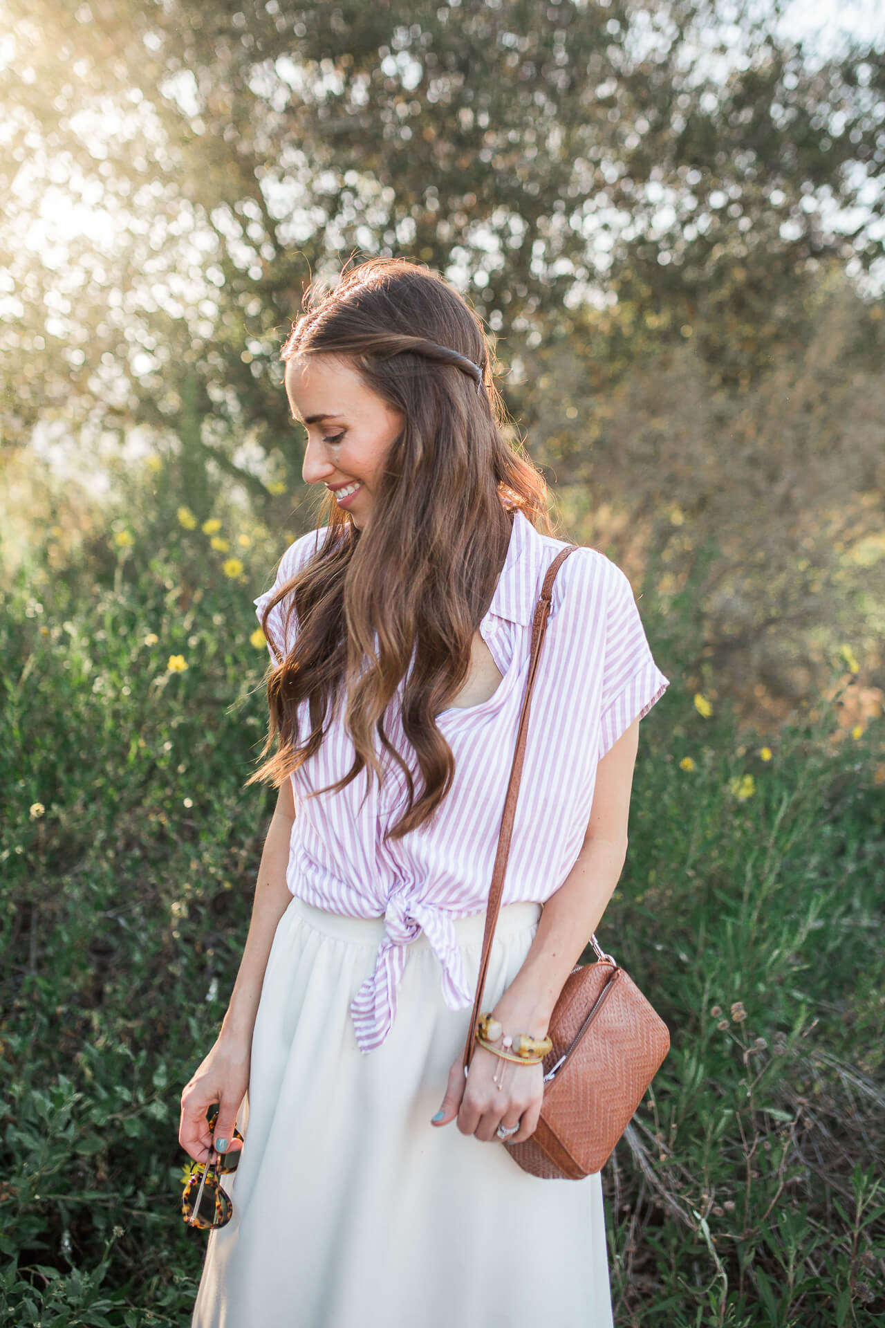 I'm loving this braided hairstyle for spring!| M Loves M @marmar
