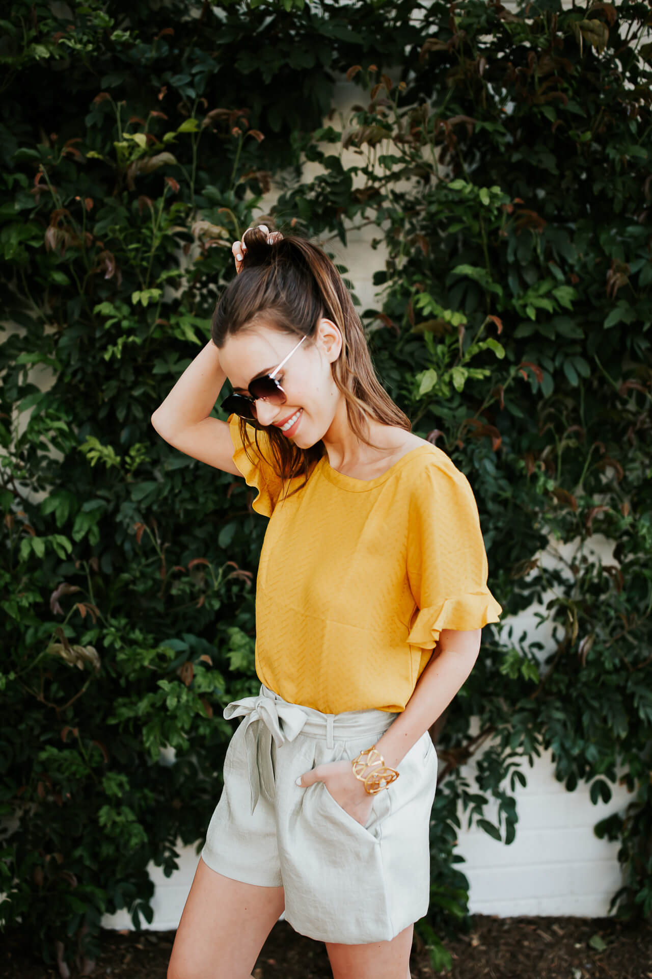 cute shorts outfit for spring - M Loves M Los Angeles Fashion Blogger @marmar