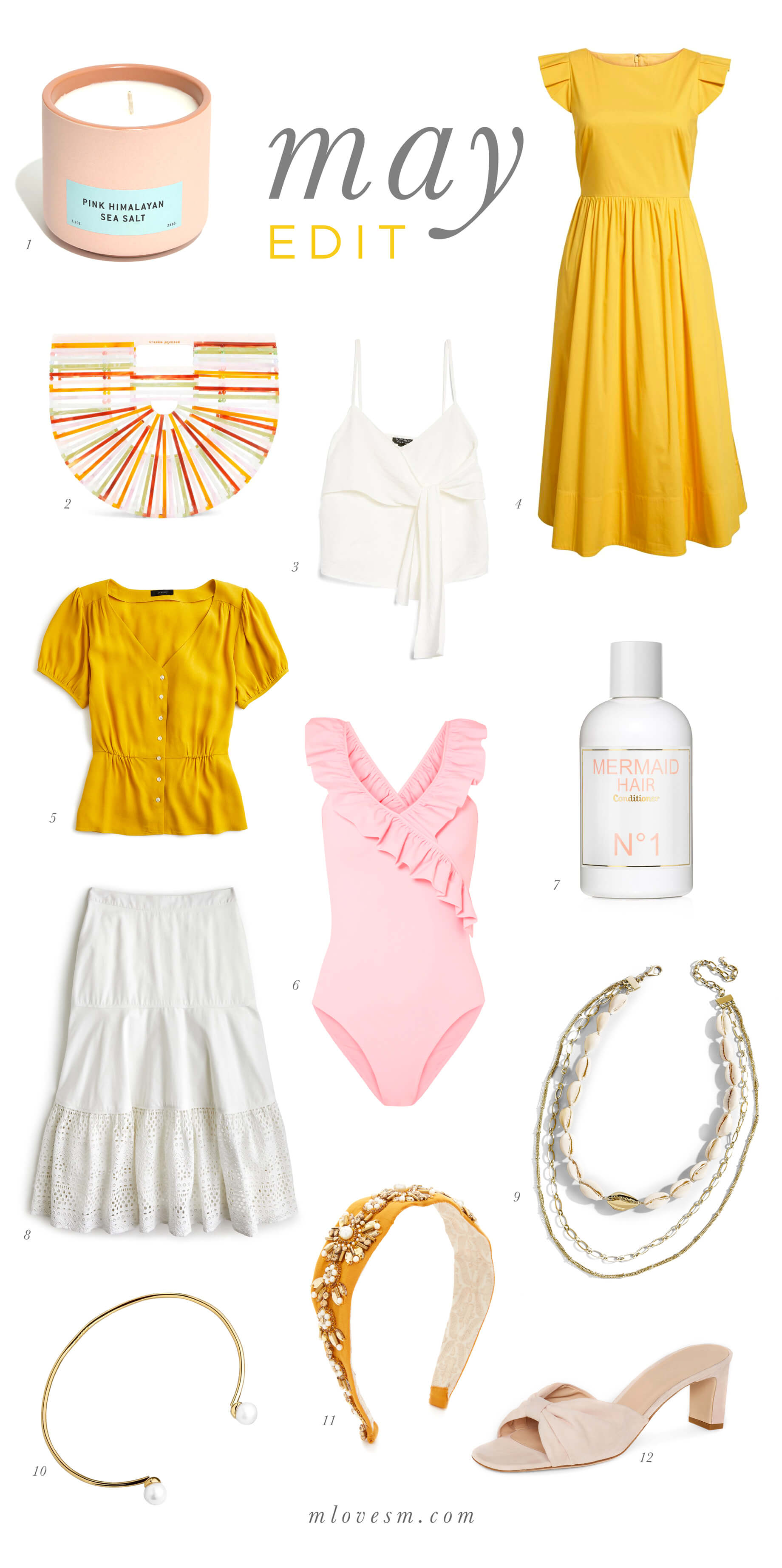 I'm so obsessed with this pink and yellow color combo for spring and summer. | M Loves M @marmar
