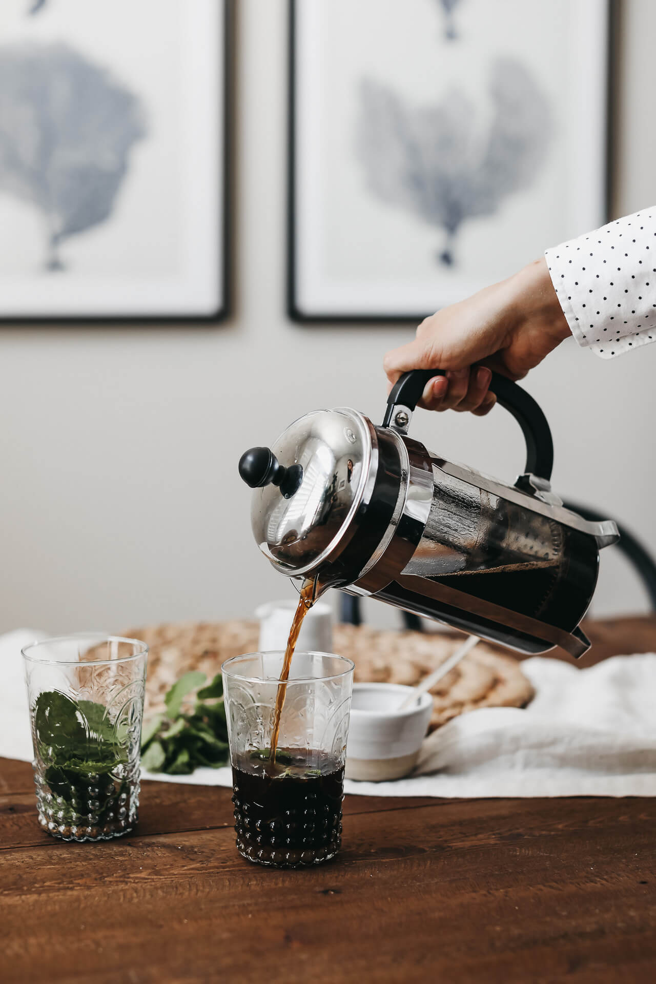 I love using a french press to make iced coffee in the summer! | M Loves M @marmar