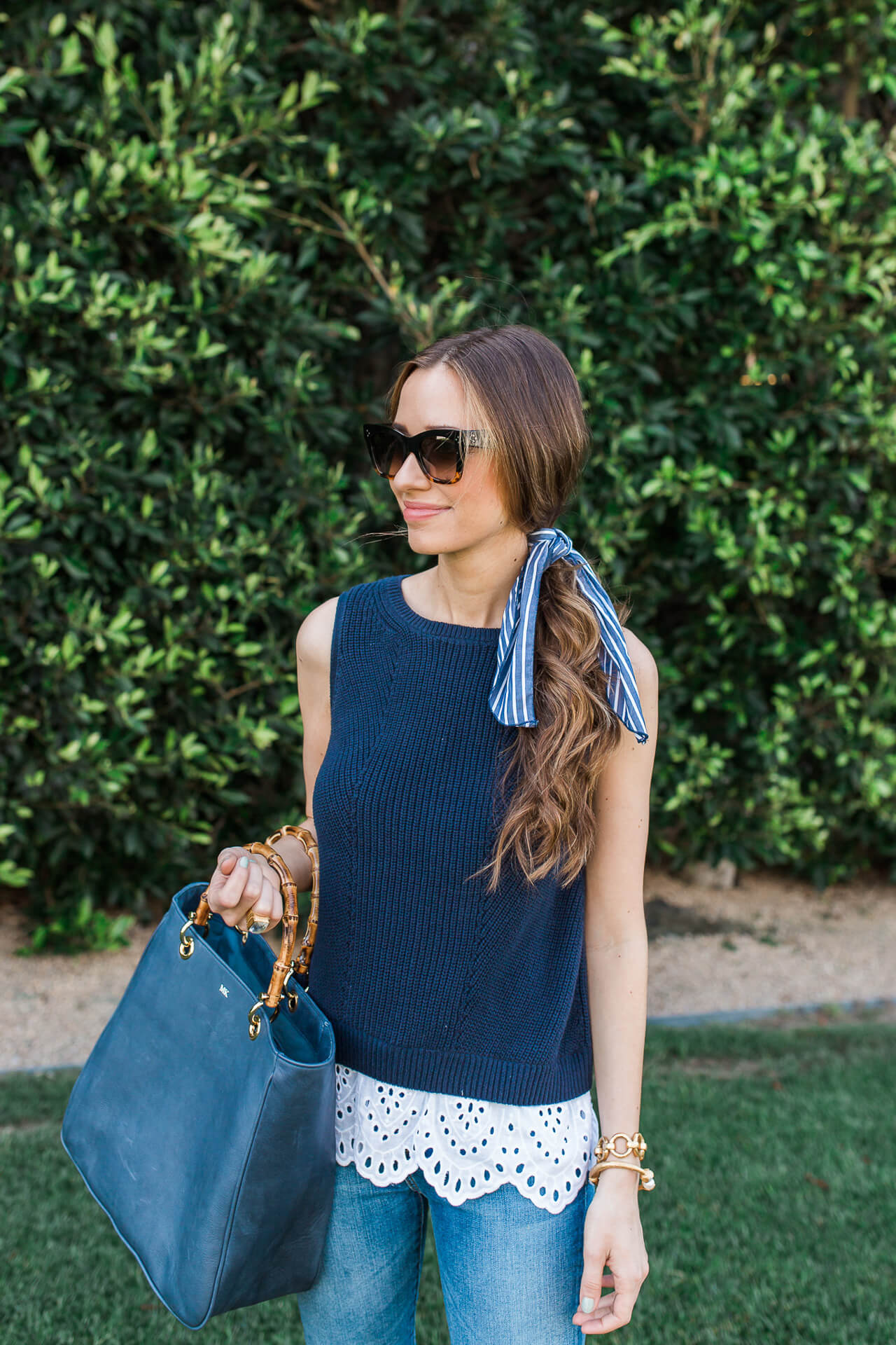 I am so obsessed with hair scarves this summer! Especially for dressing up a ponytail! | M Loves M @marmar