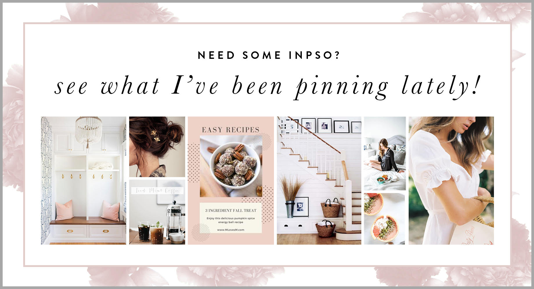 Follow along on Pinterest for style,beauty, food, and decor inspiration! | M Loves M @marmar