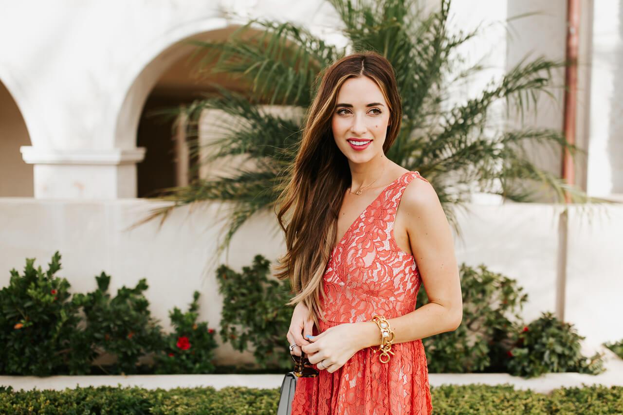 A romantic red dress. | M Loves M @marmar