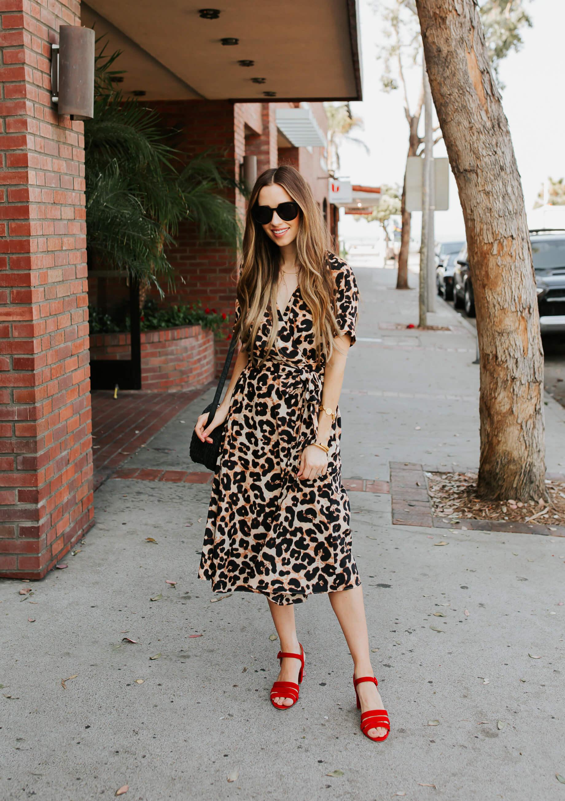 A Classic Way to Wear Leopard Print