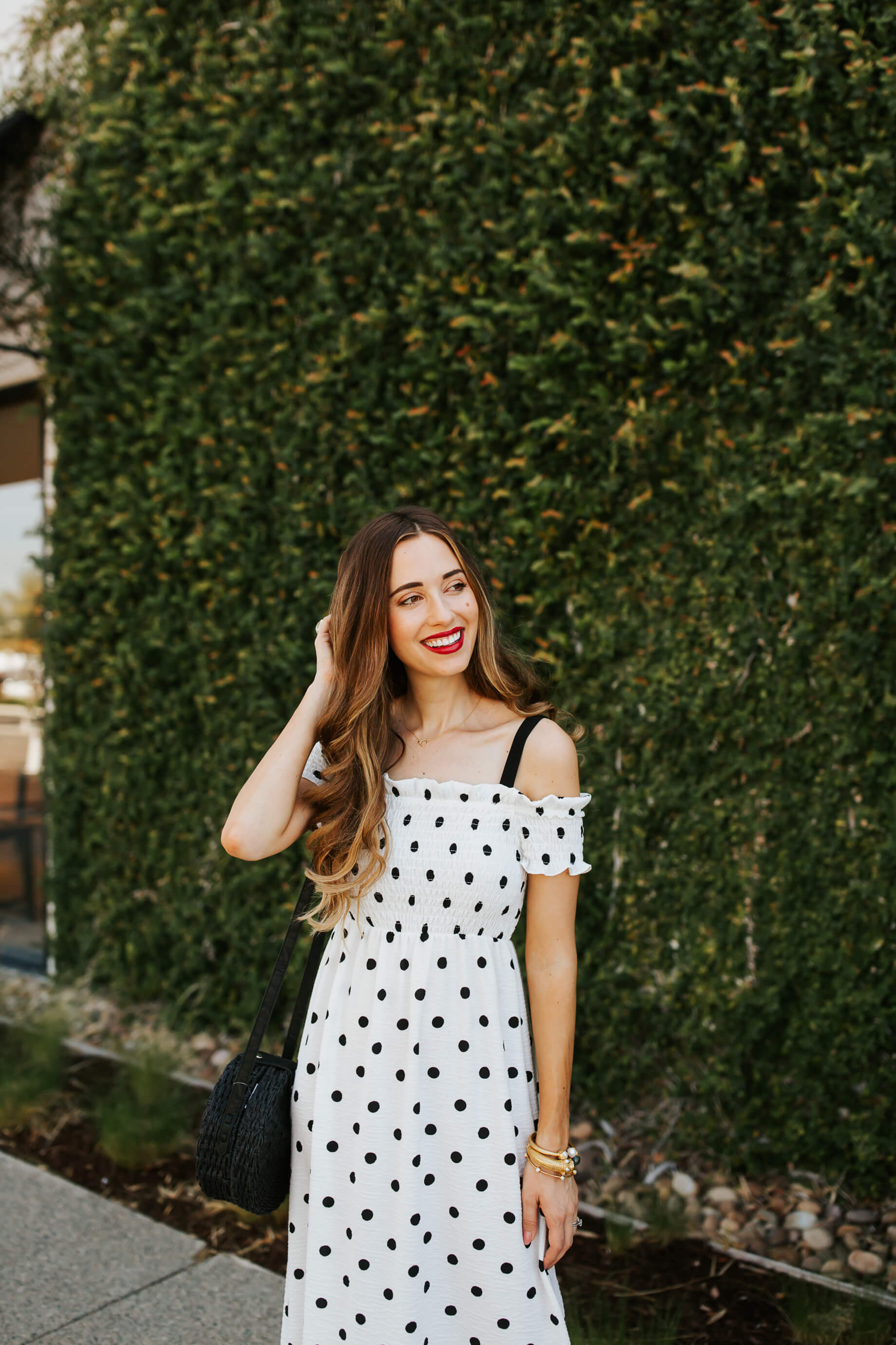I love black and white polkadot prints!| M Loves M @marmar