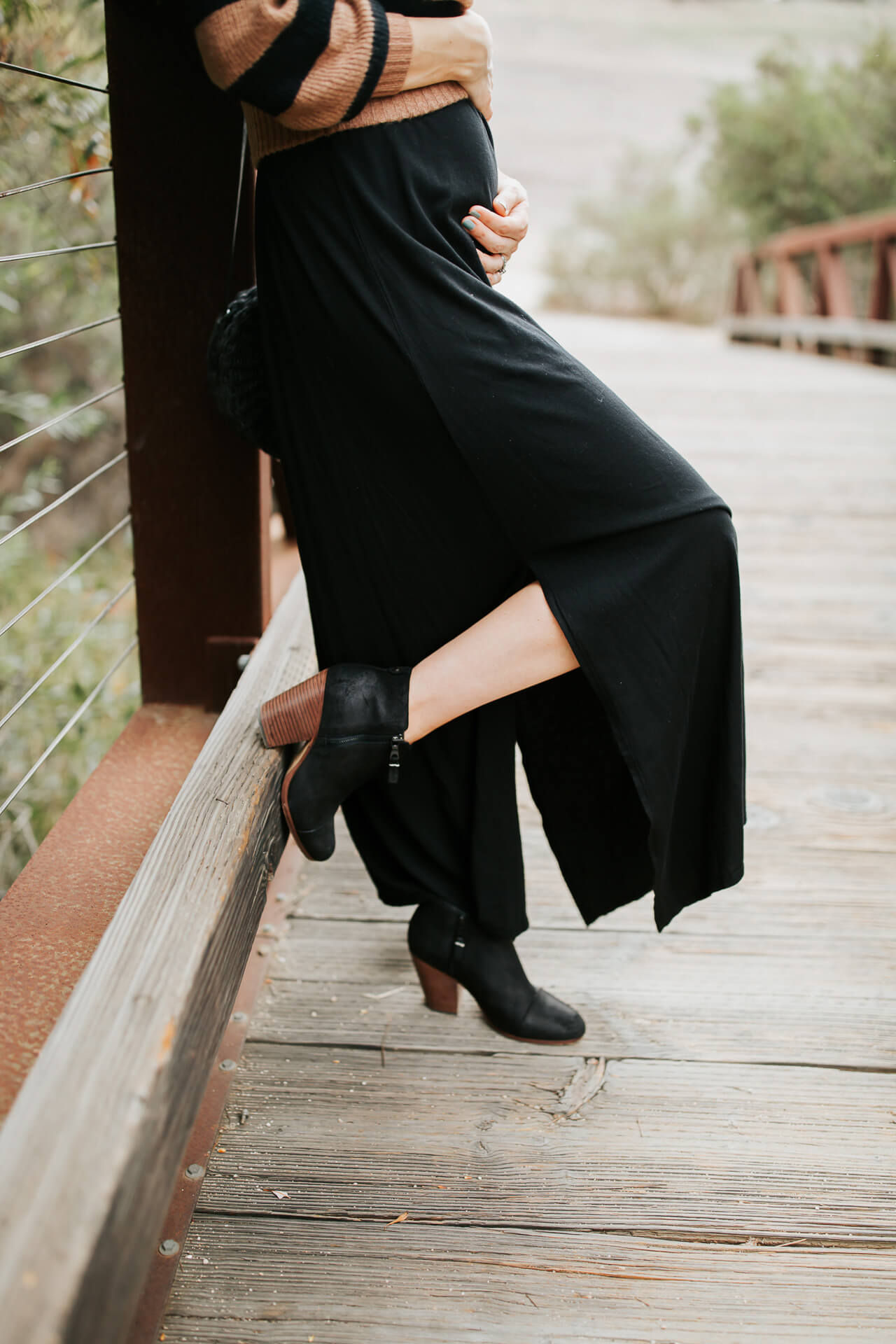 I love pairing boots with a maxi dress! | M Loves M @marmar