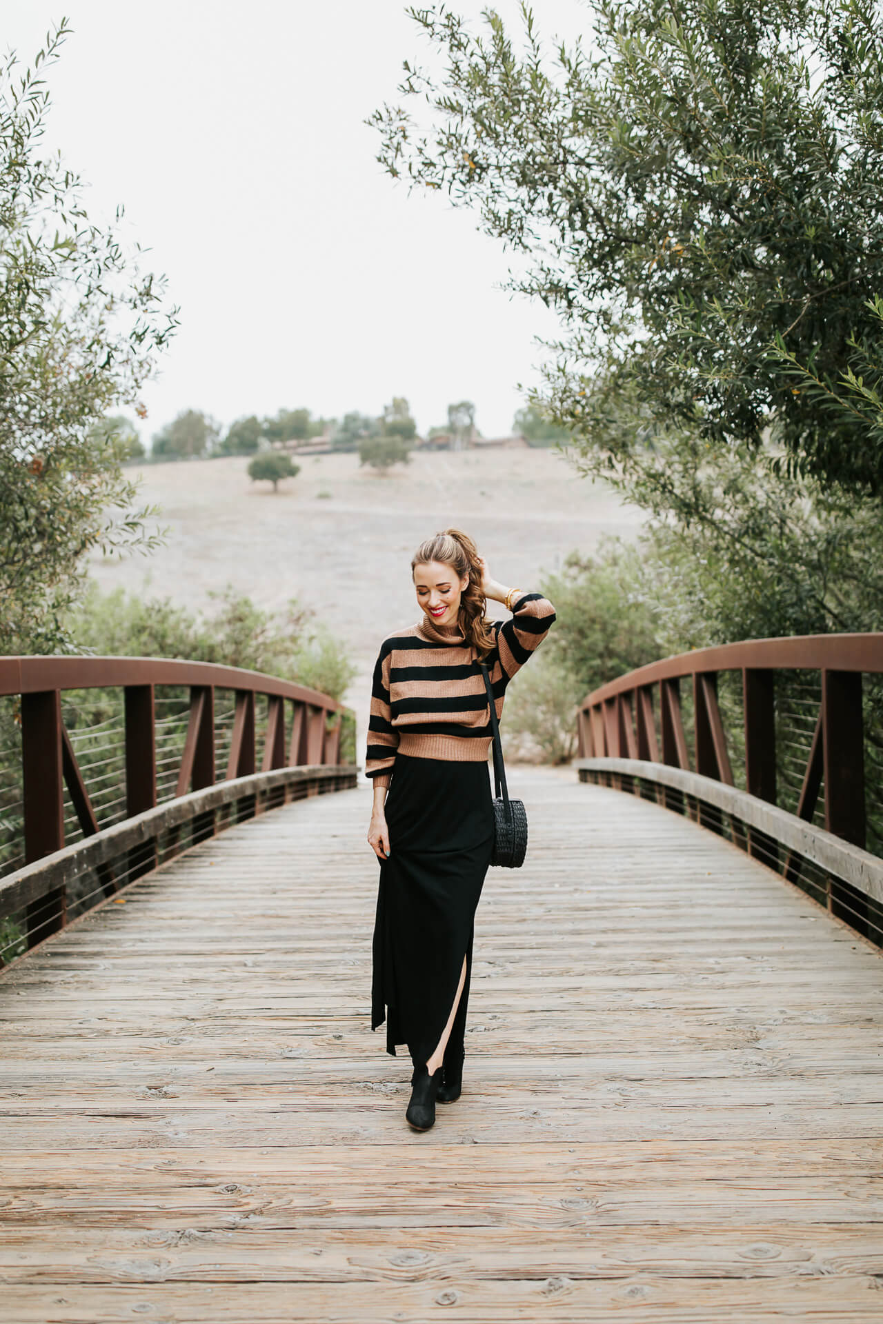 This striped cropped sweater is perfect for fall. | M Loves M @marmar