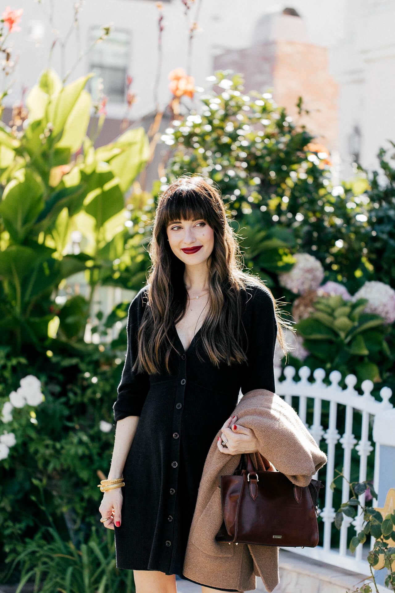 I love this black sweater dress! | M Loves M @marmar