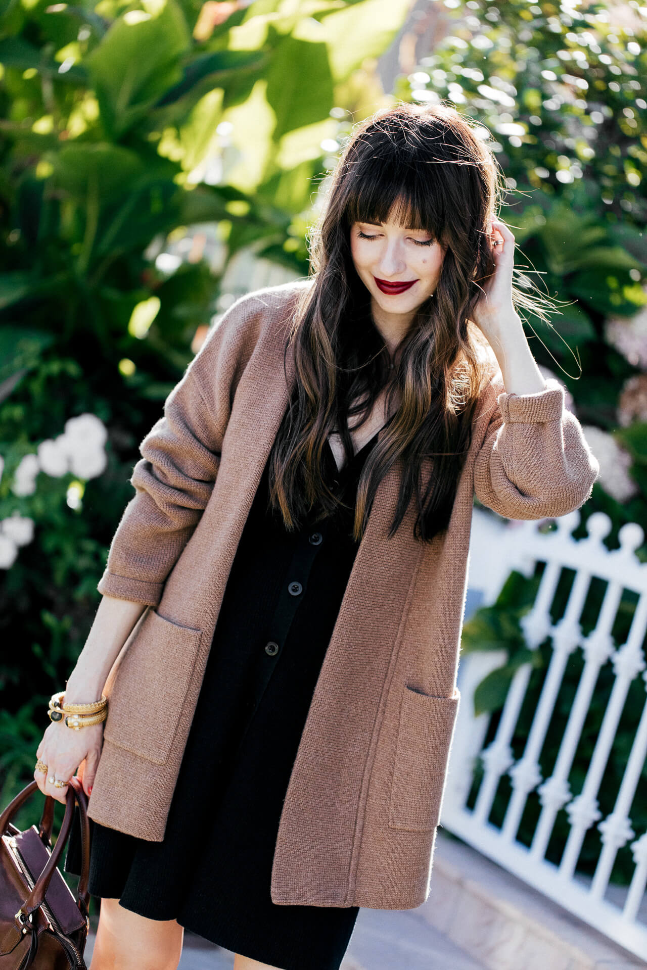 This long camel sweater is so chic! | M Loves M @marmar