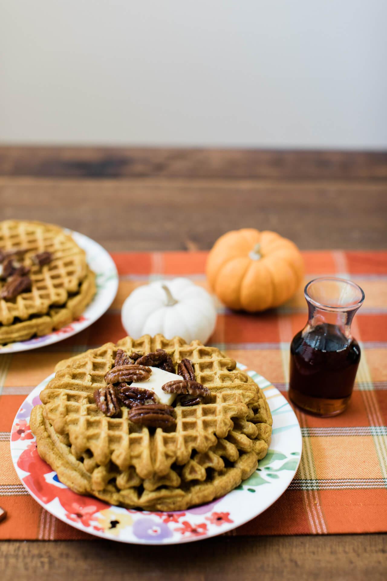 Pumpkin waffle recipe. | M Loves M @marmar