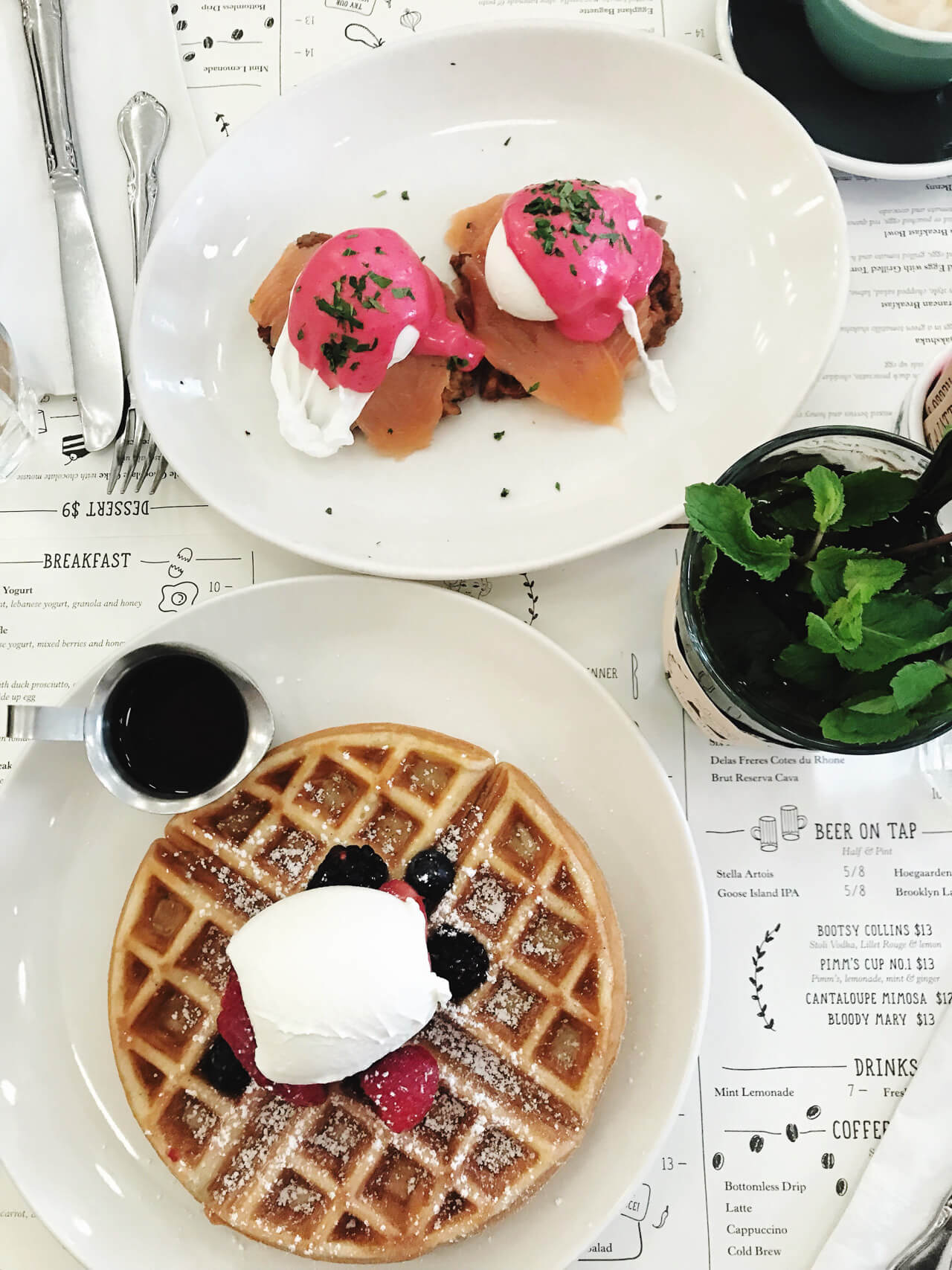breakfast at Jack's Wife Freda - a yummy and healthy New York City brunch option - M Loves M @marmar