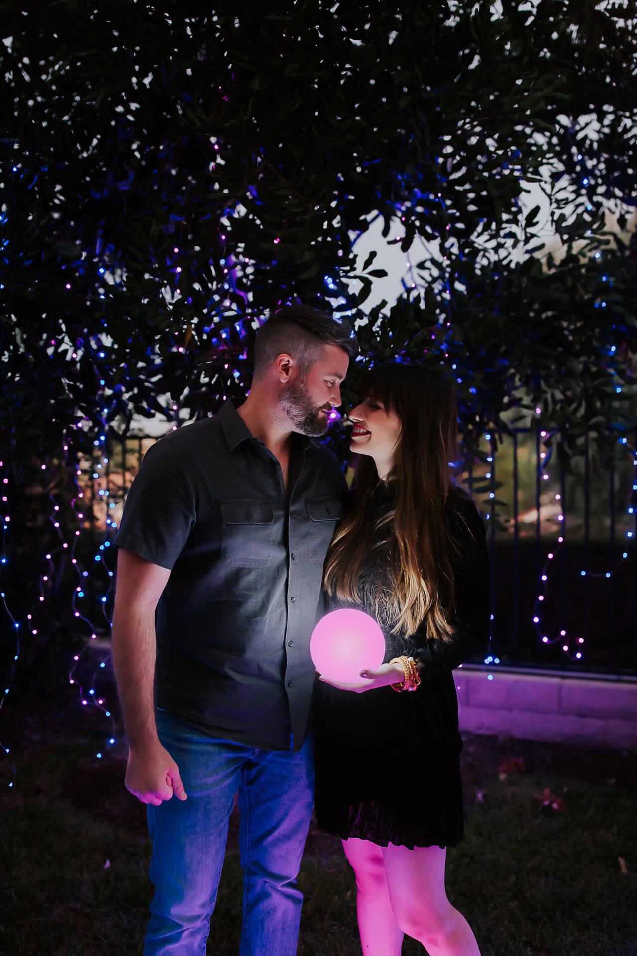 M Loves M Nighttime Gender Reveal with Lights - M Loves M @marmar