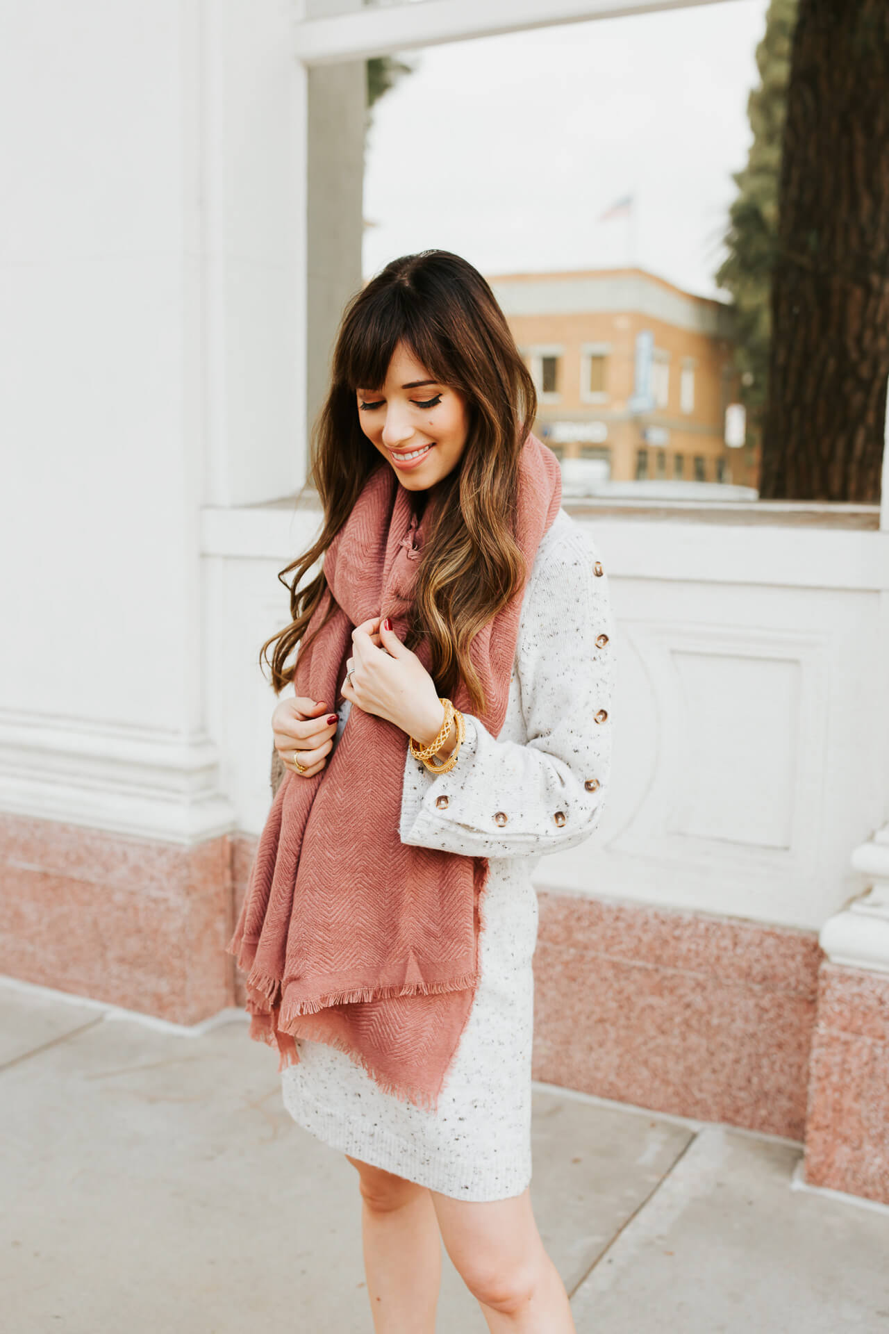 I love this pink scarf from Sole Society! - M Loves M @marmar