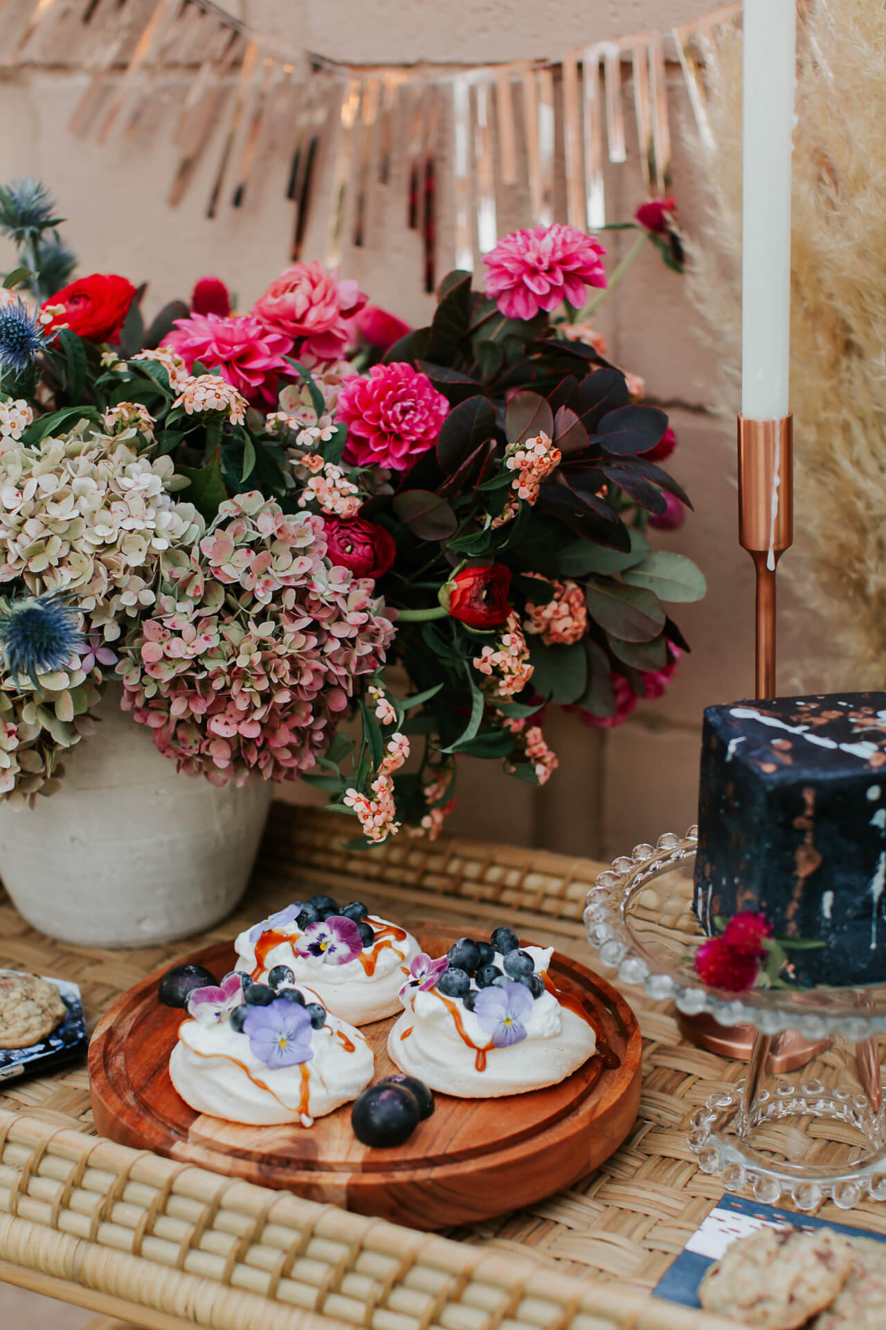 gorgeous flowers from the flower shop in laguna beach for M Loves M gender reveal - @marmar
