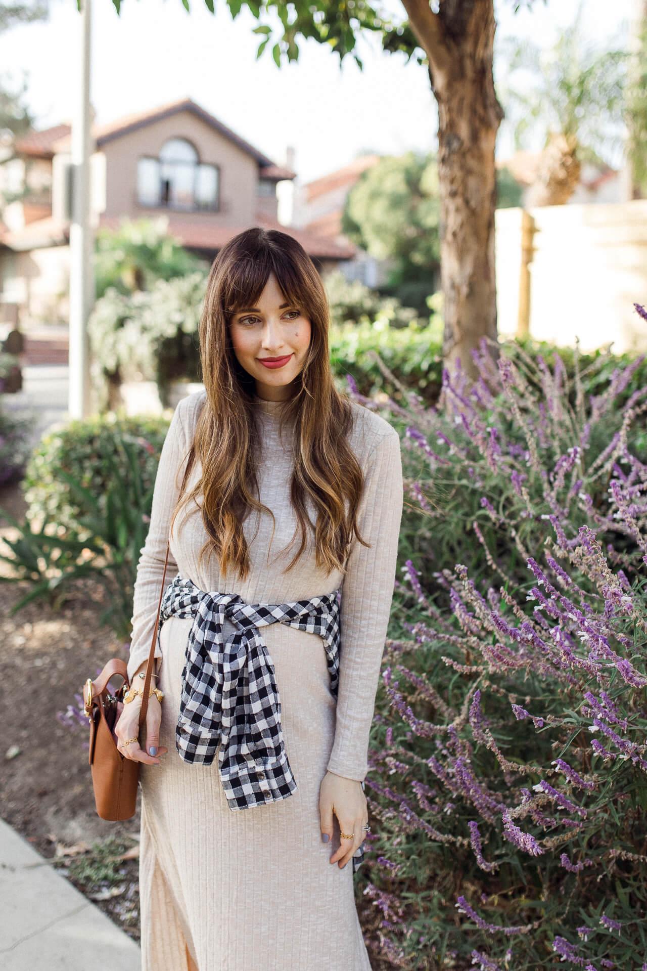 Such a cute blue and white plaid shirt!- M Loves M @marmar