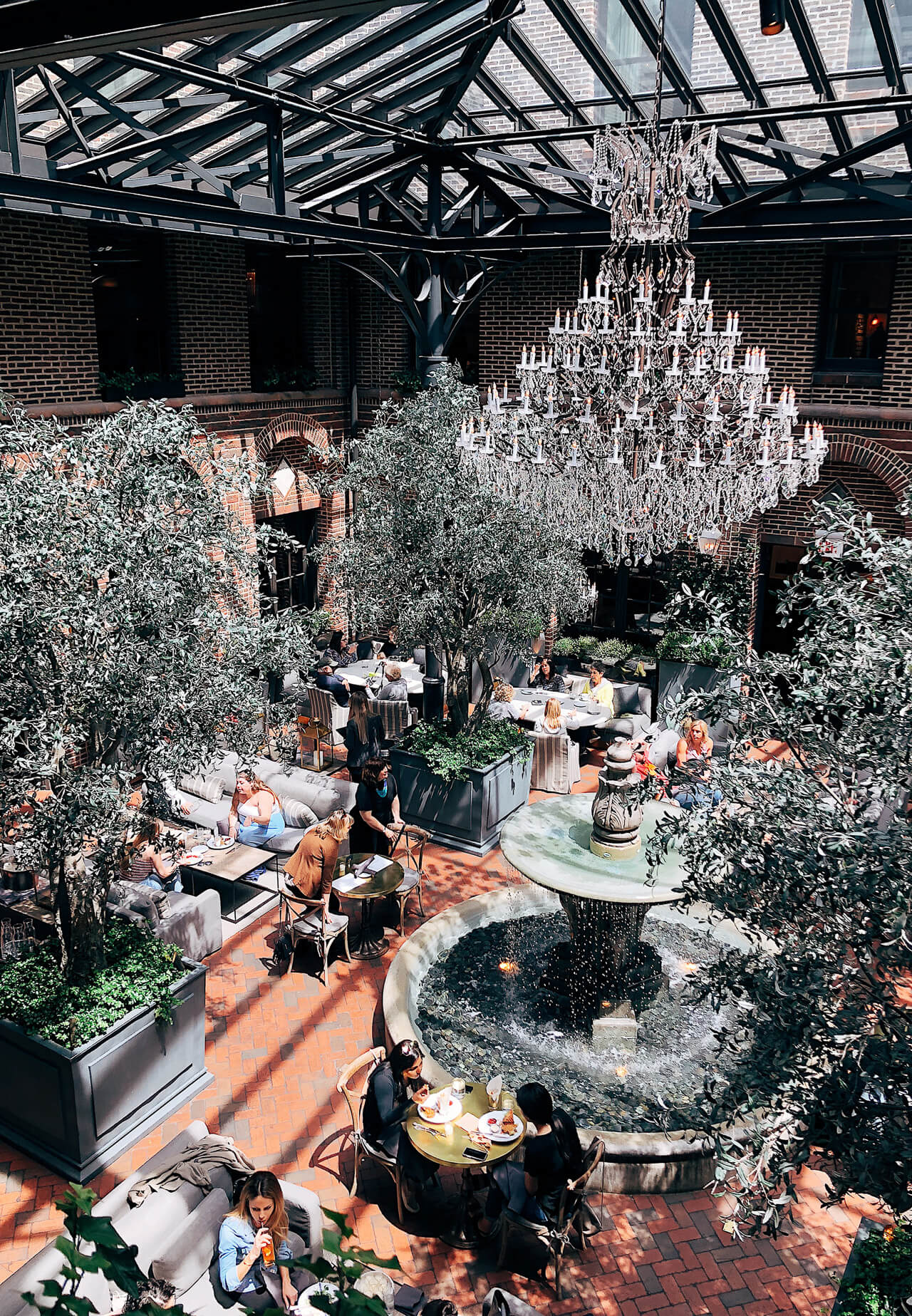 The Restoration Hardware restaurant in Chicago is so pretty! - M Loves M @marmar