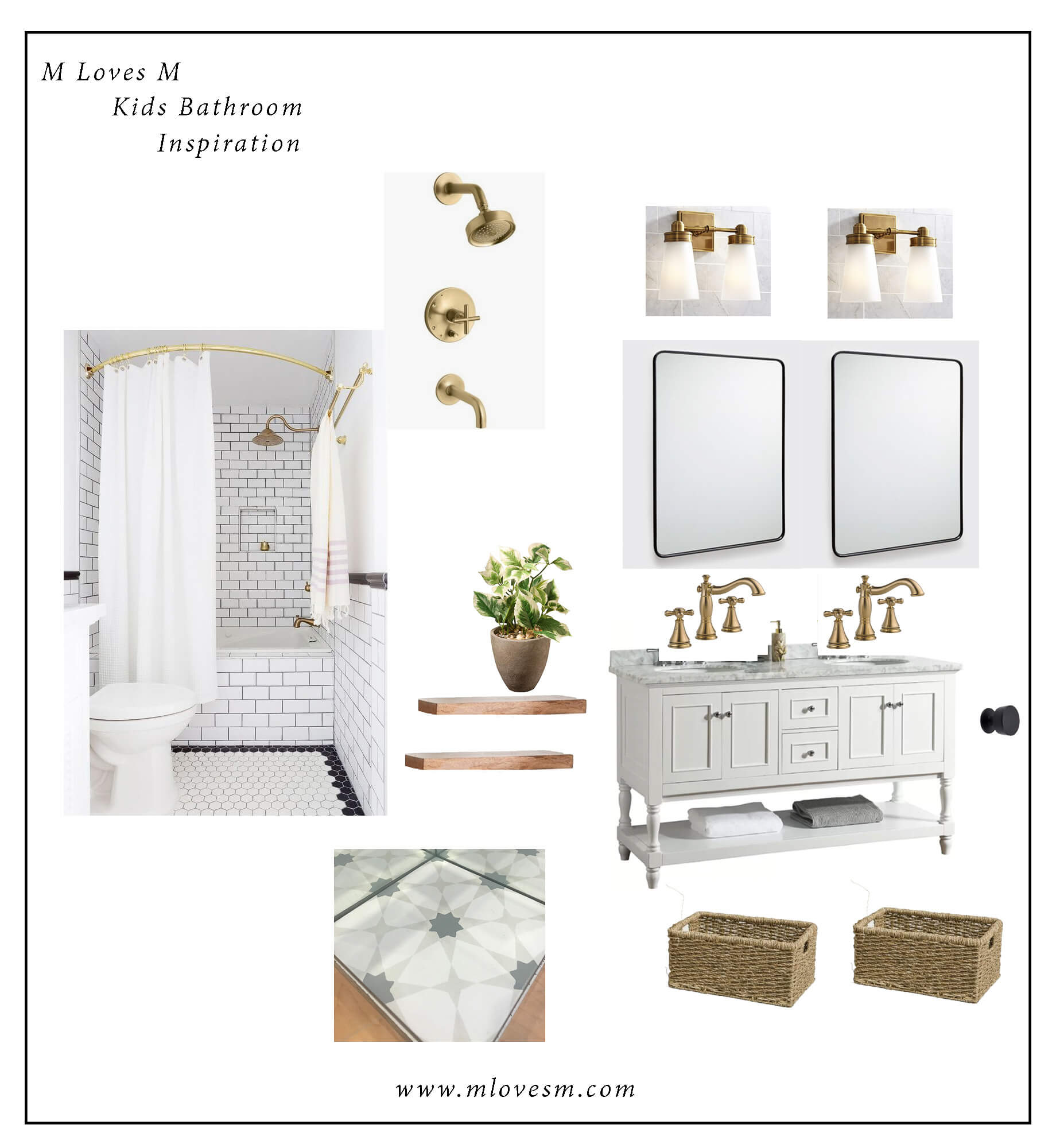 This is our kids' bathroom redesign inspiration! - M Loves M @marmar