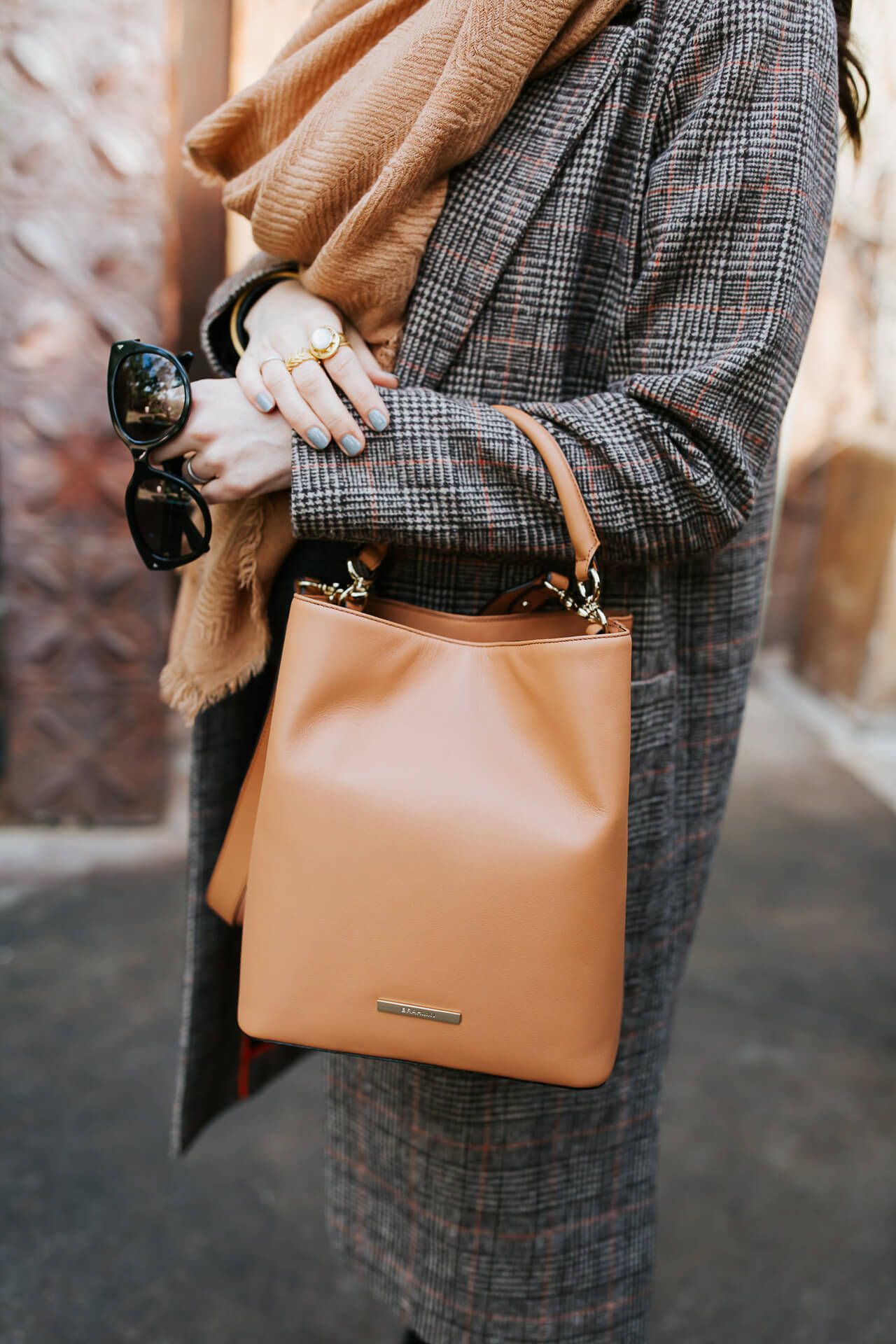 I love a classic brown leather handbag.