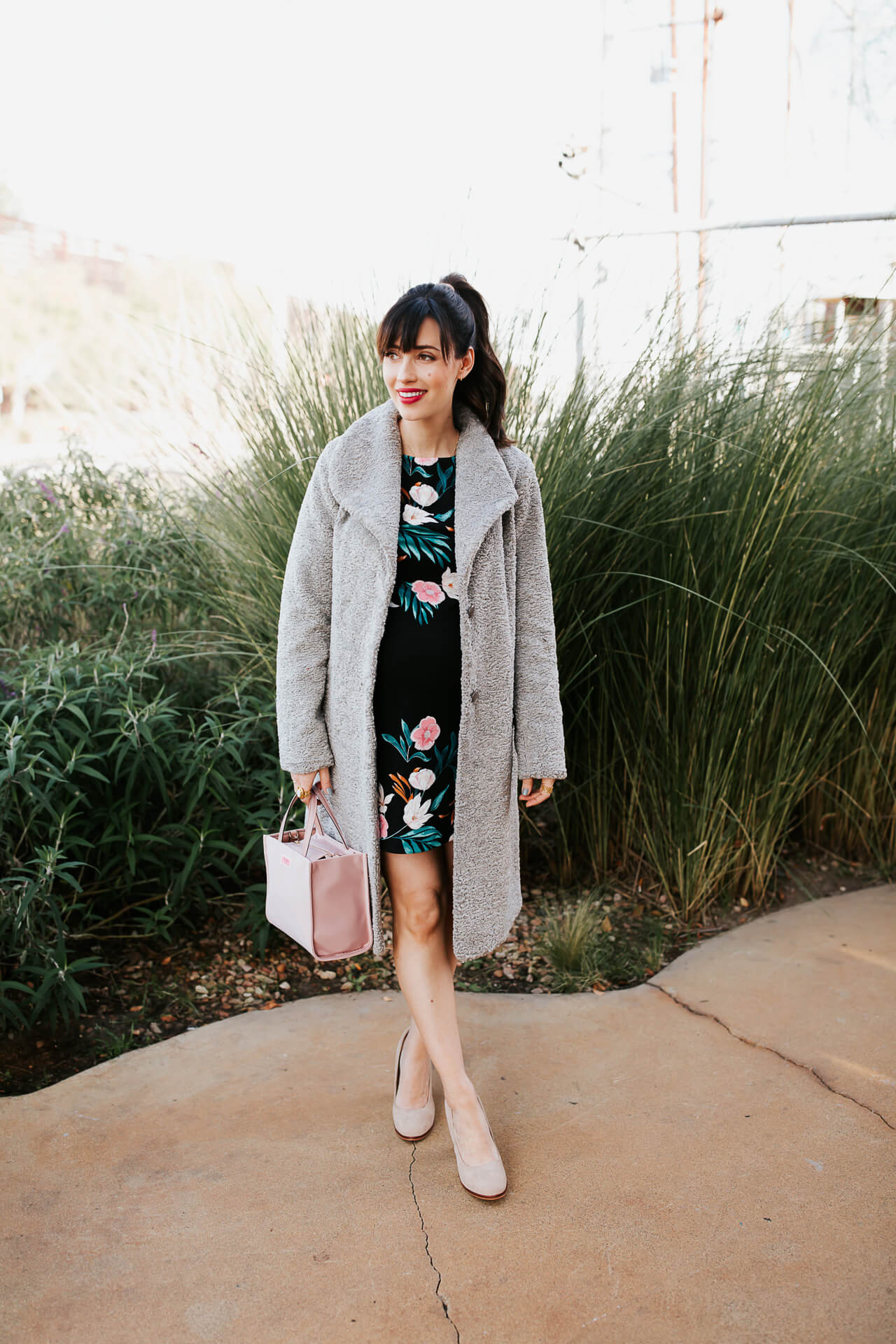 This faux fur grey coat from Halogen is so cute! - M Loves M @marmar