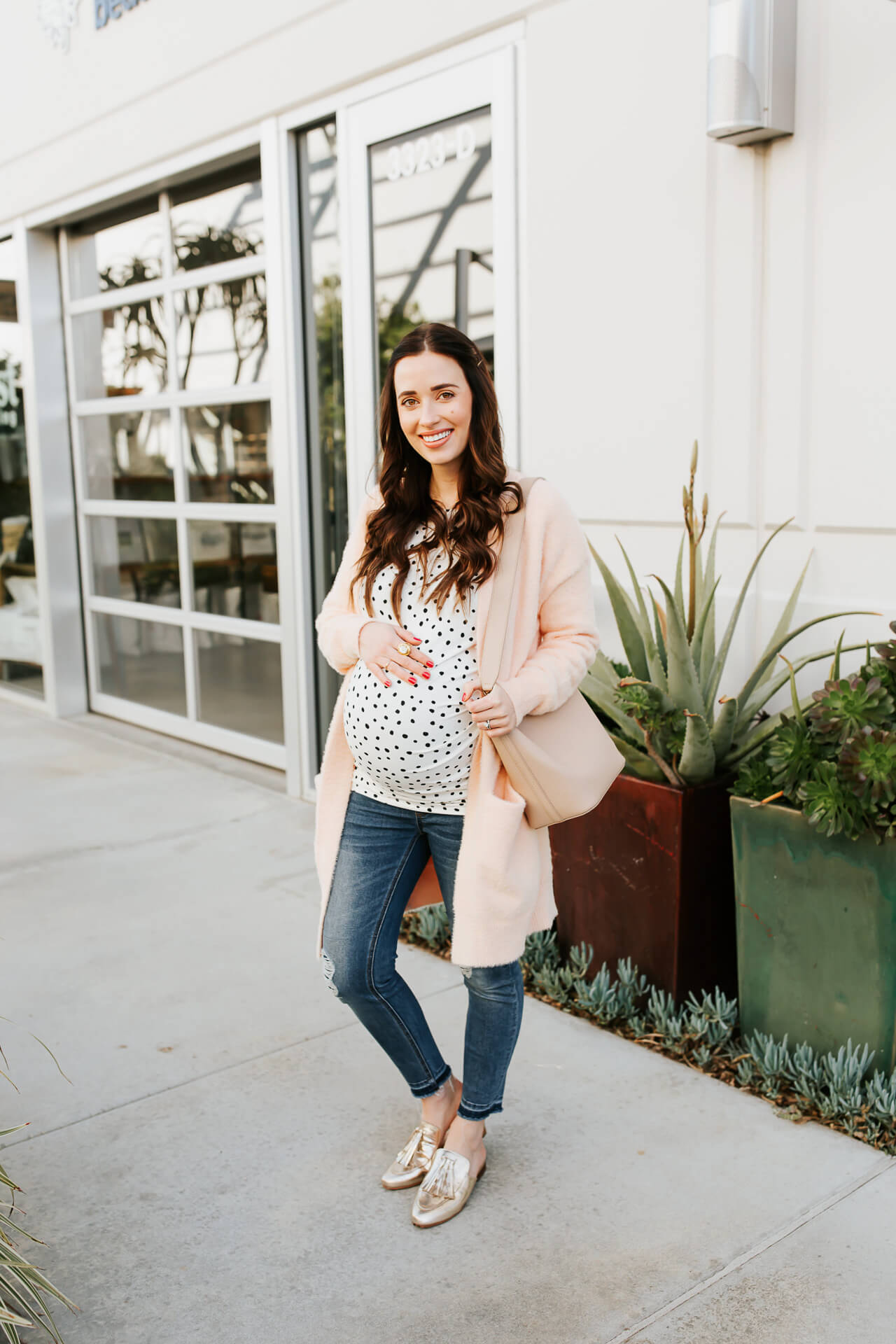 This polka dot blouse is so pretty! - M Loves M @marmar
