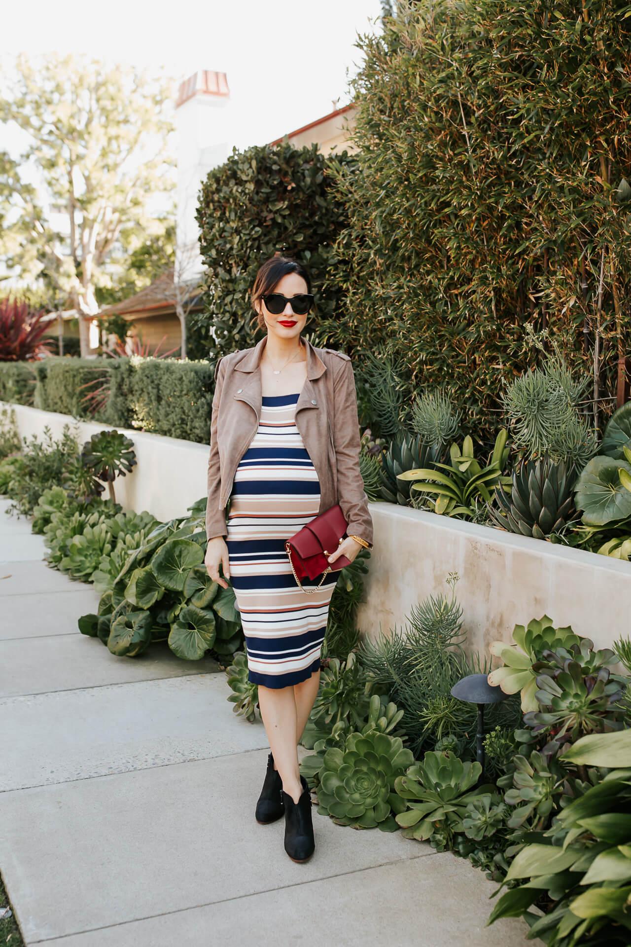 Love this striped bodycon dress! - M Loves M @marmar