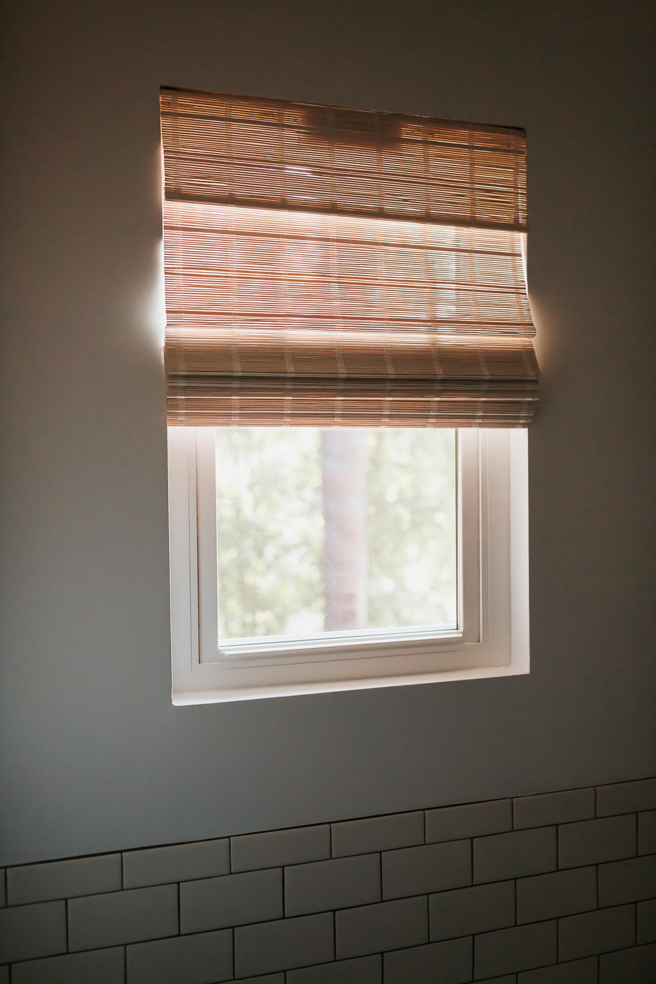 A bathroom window fixture in a neutral shade. - M Loves M @marmar