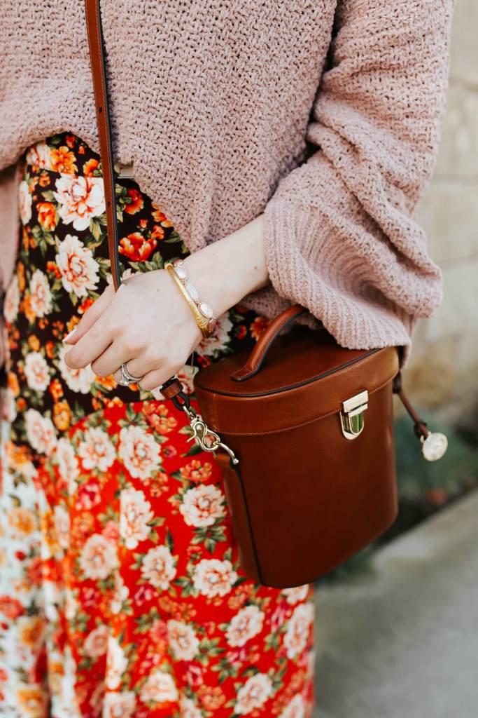 An orange floral midi skirt for spring! - M Loves M @marmar