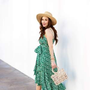 A green floral dress for spring! - M Loves M @marmar