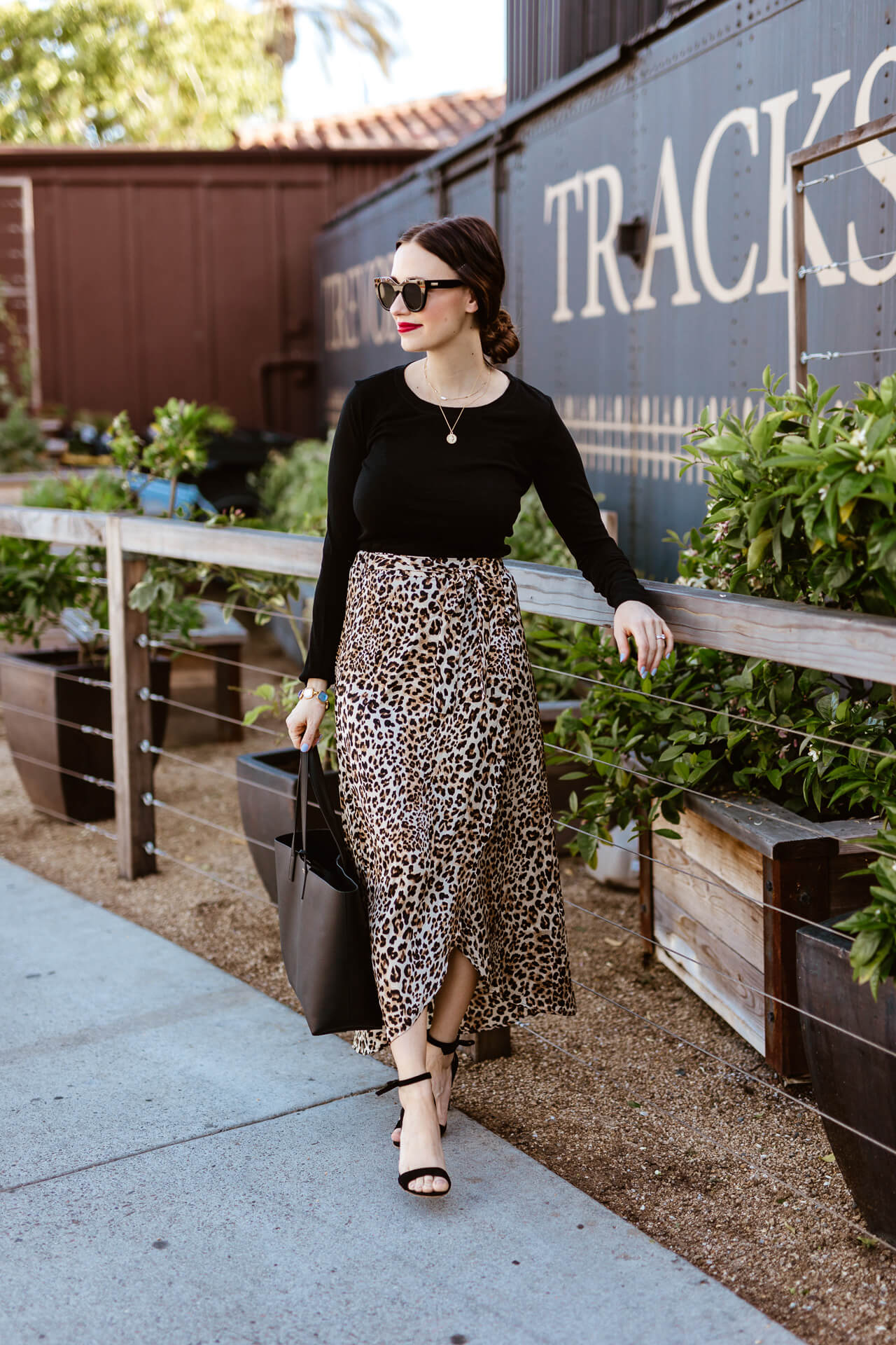 A long leopard print skirt! - M Loves M @marmar