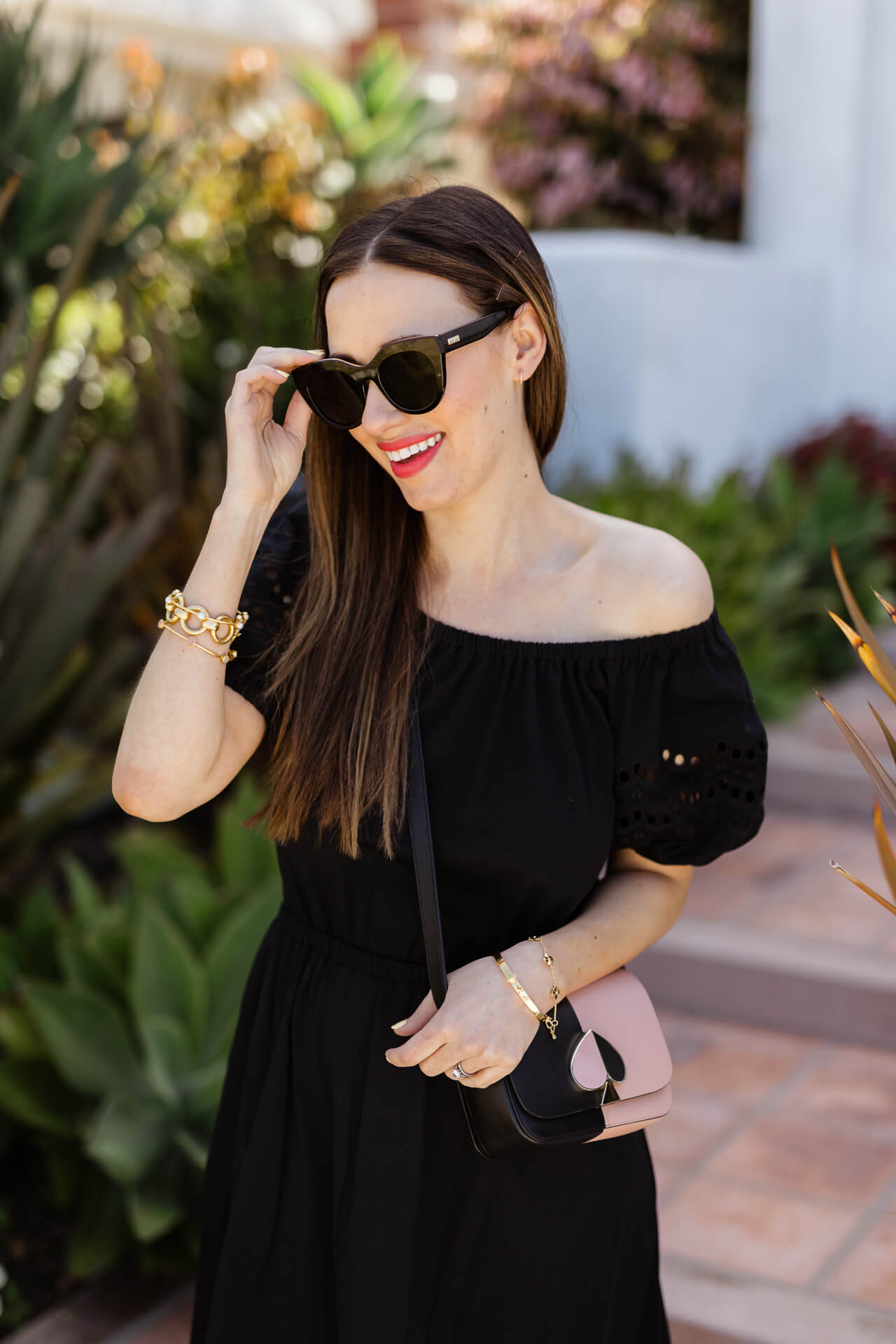 A pretty black off the shoulder dress! - M Loves M